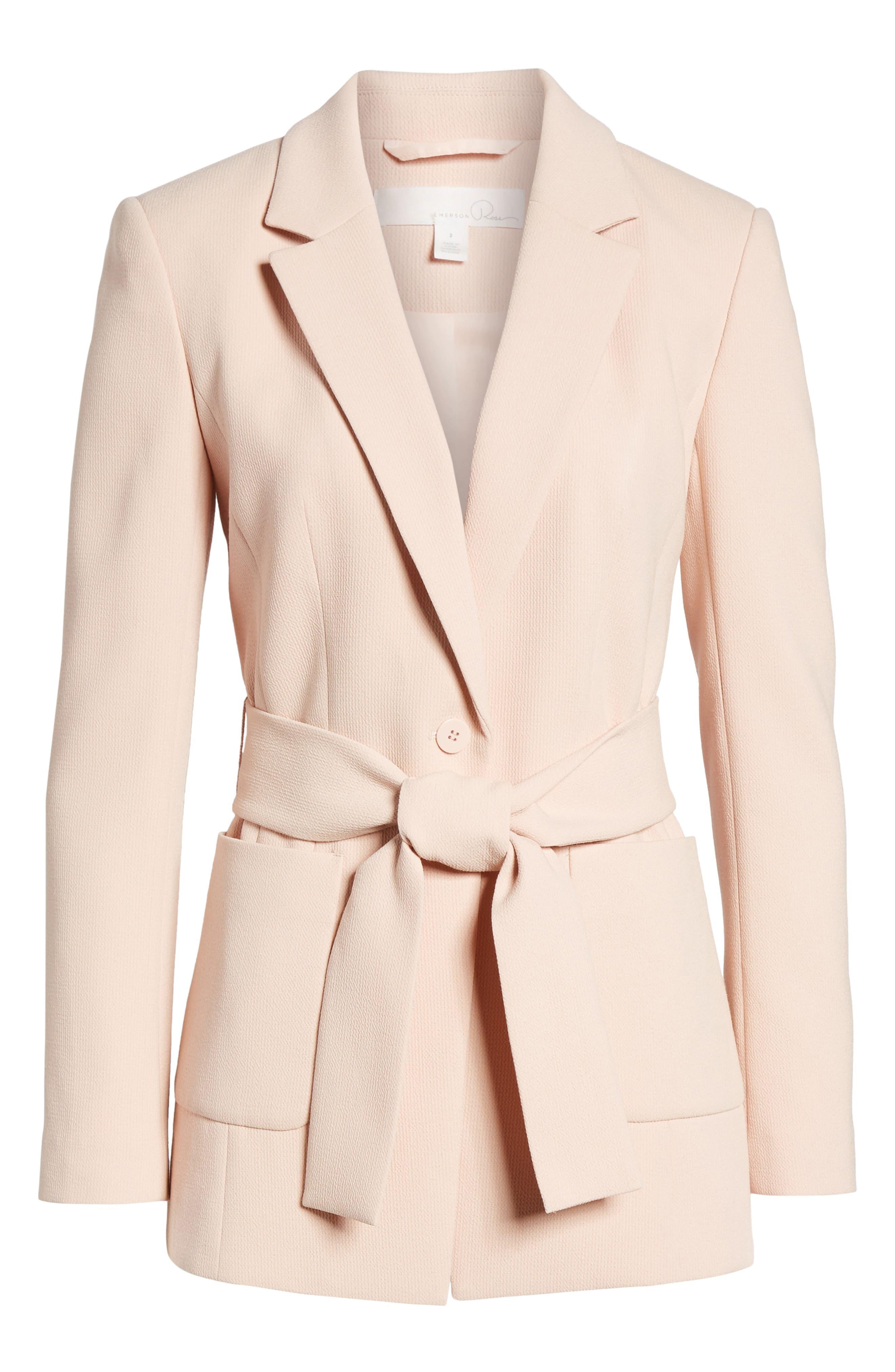 Tie Waist Suit Jacket,                             Alternate thumbnail 5, color,                             680
