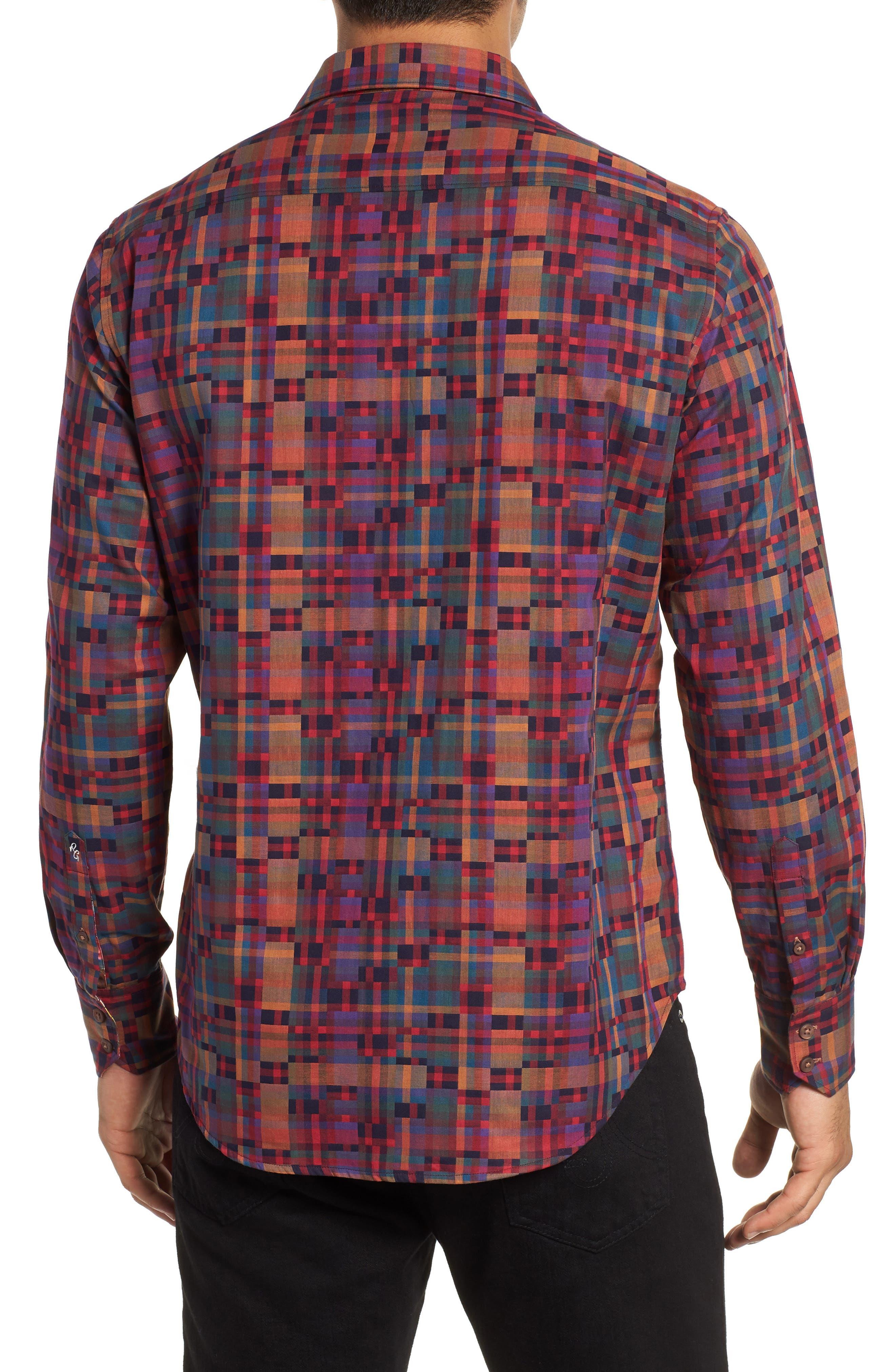 Nash Classic Fit Sport Shirt,                             Alternate thumbnail 3, color,                             MULTI