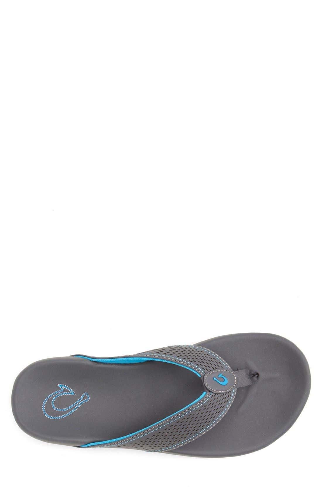 OLUKAI,                             'Kekoa' Water Resistant Perforated Flip Flop,                             Alternate thumbnail 4, color,                             029