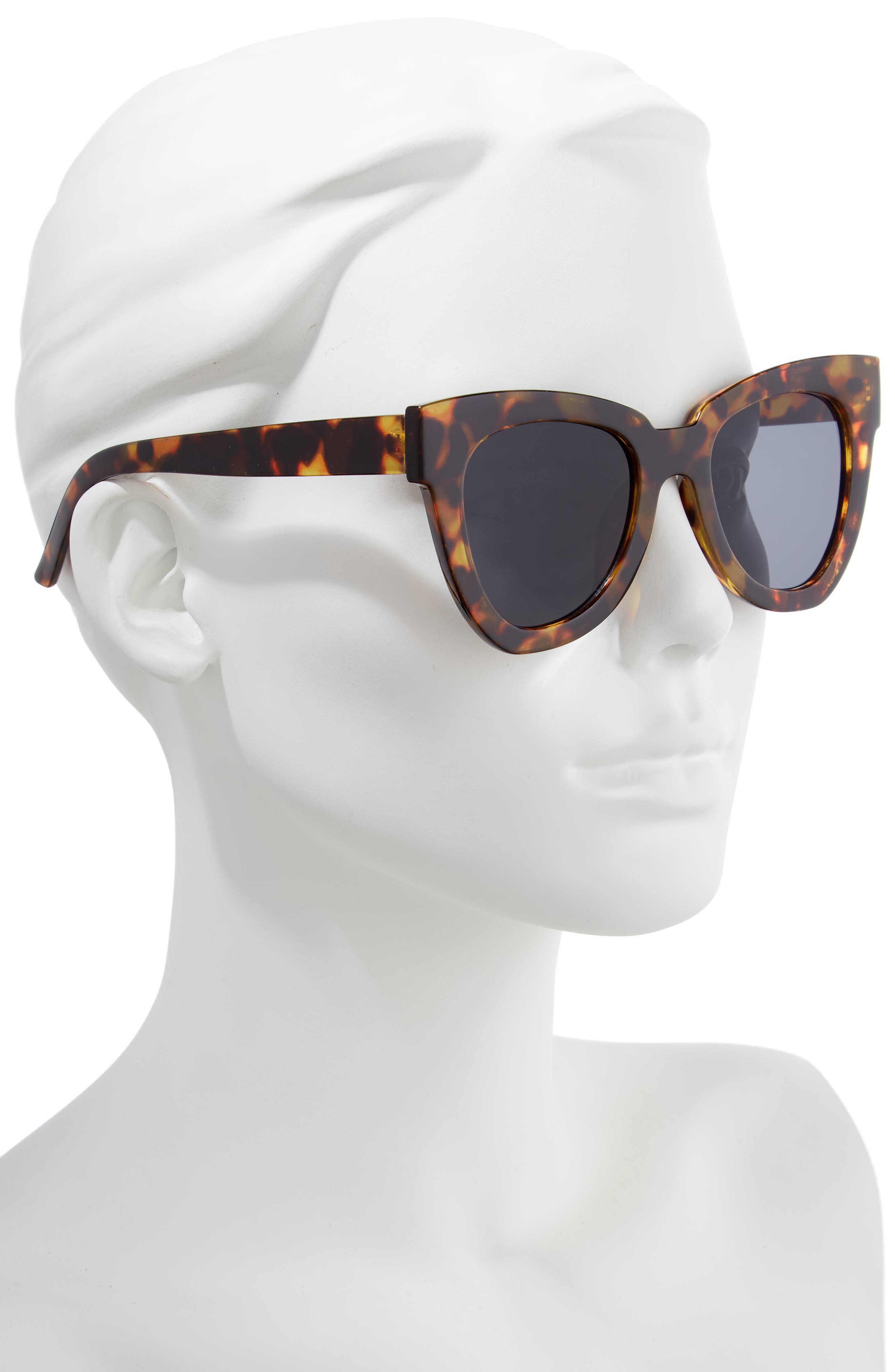 SHADY LADY,                             Hayley 50mm Cat Eye Sunglasses,                             Alternate thumbnail 2, color,                             TORTOISE