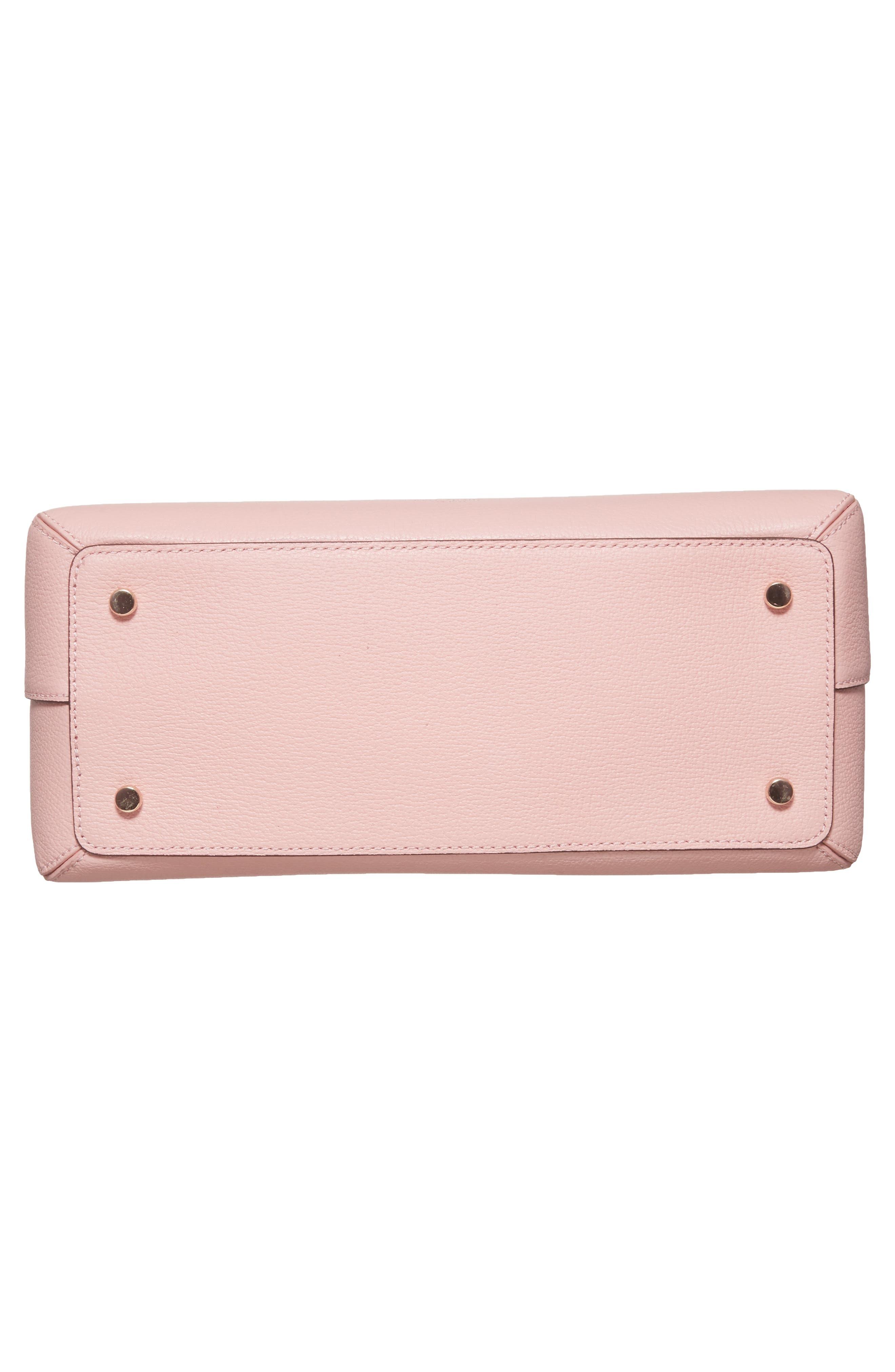olive drive lottie leather satchel,                             Alternate thumbnail 12, color,