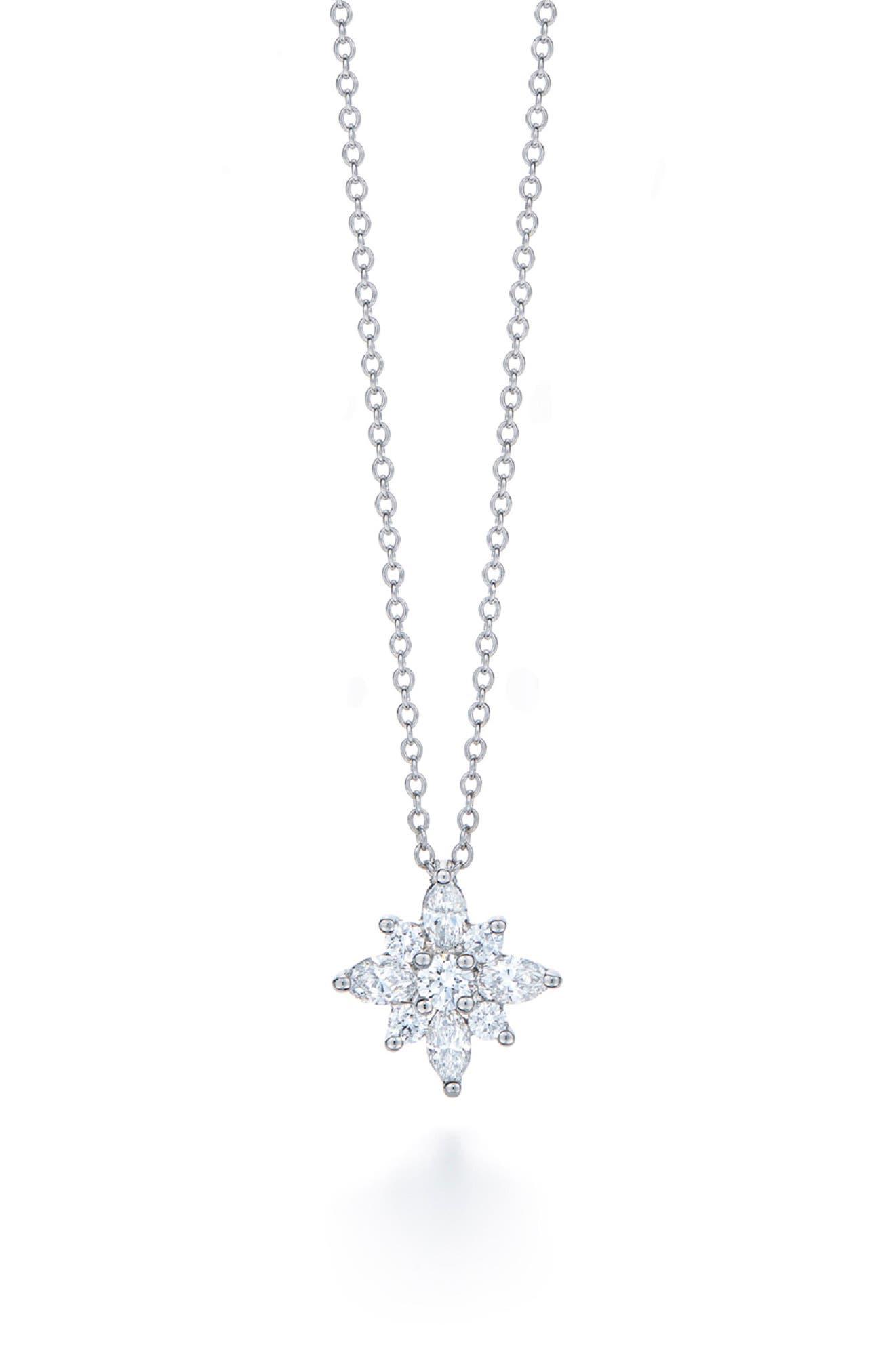 .44ct tw Diamond Star Pendant Necklace,                             Main thumbnail 1, color,                             PLA