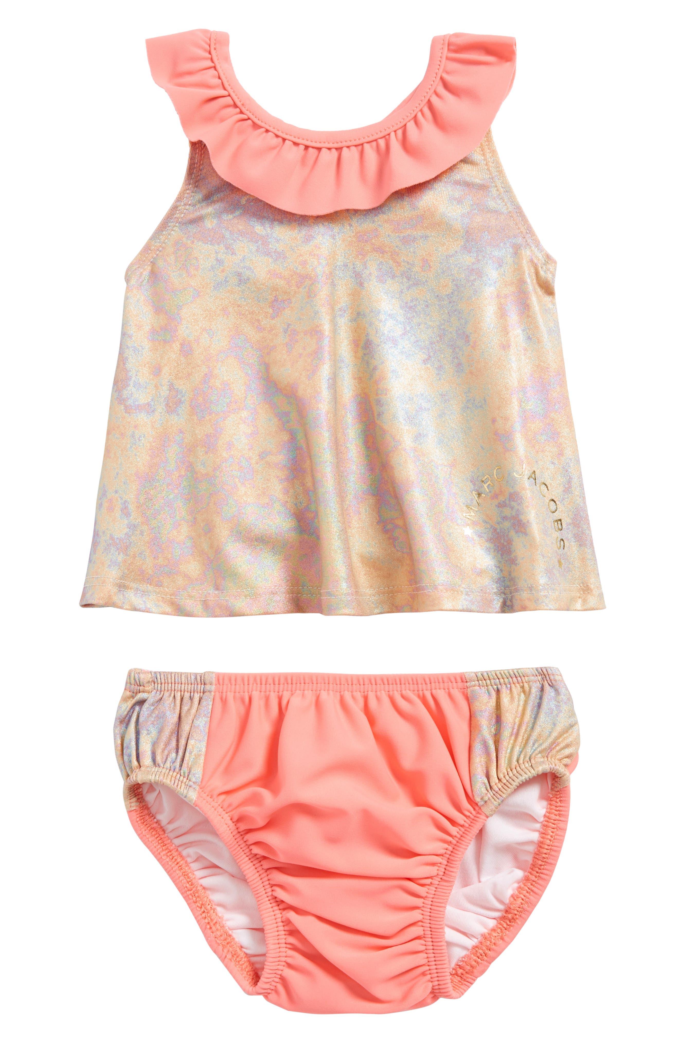 Irisescent Two-Piece Swimsuit,                             Main thumbnail 1, color,