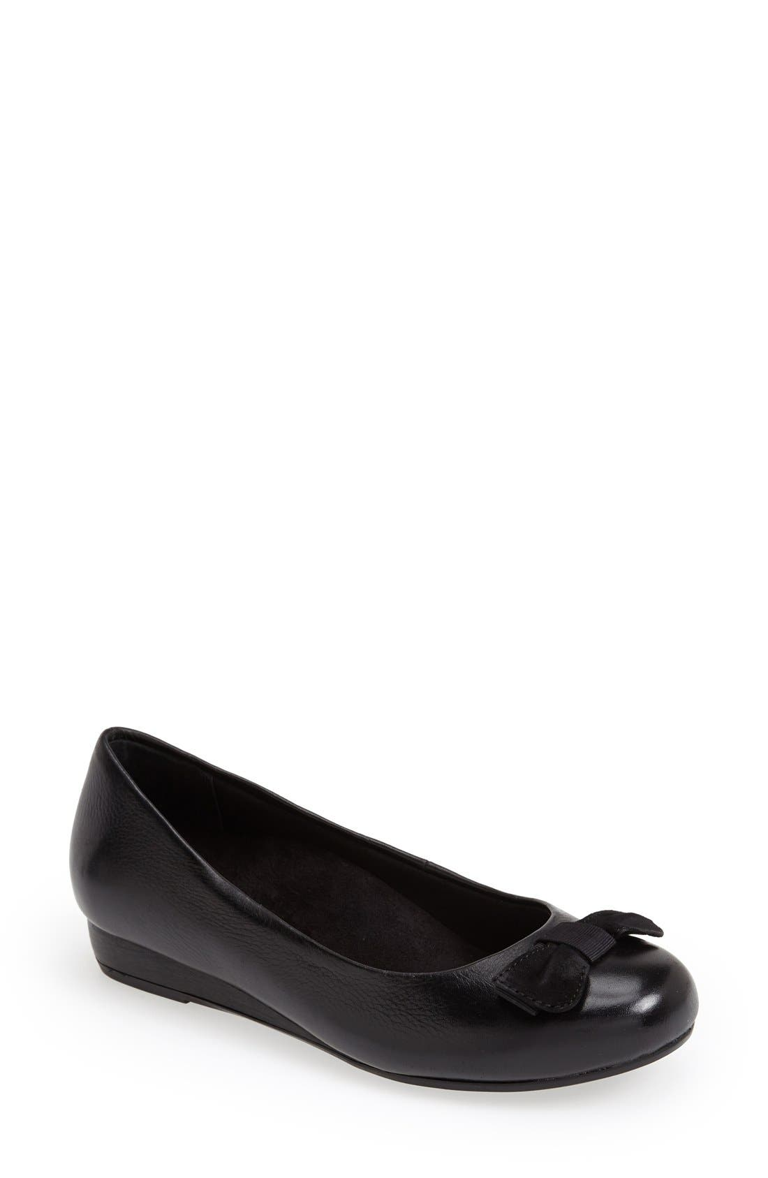 'Lydia' Leather Wedge Pump,                             Main thumbnail 1, color,                             001