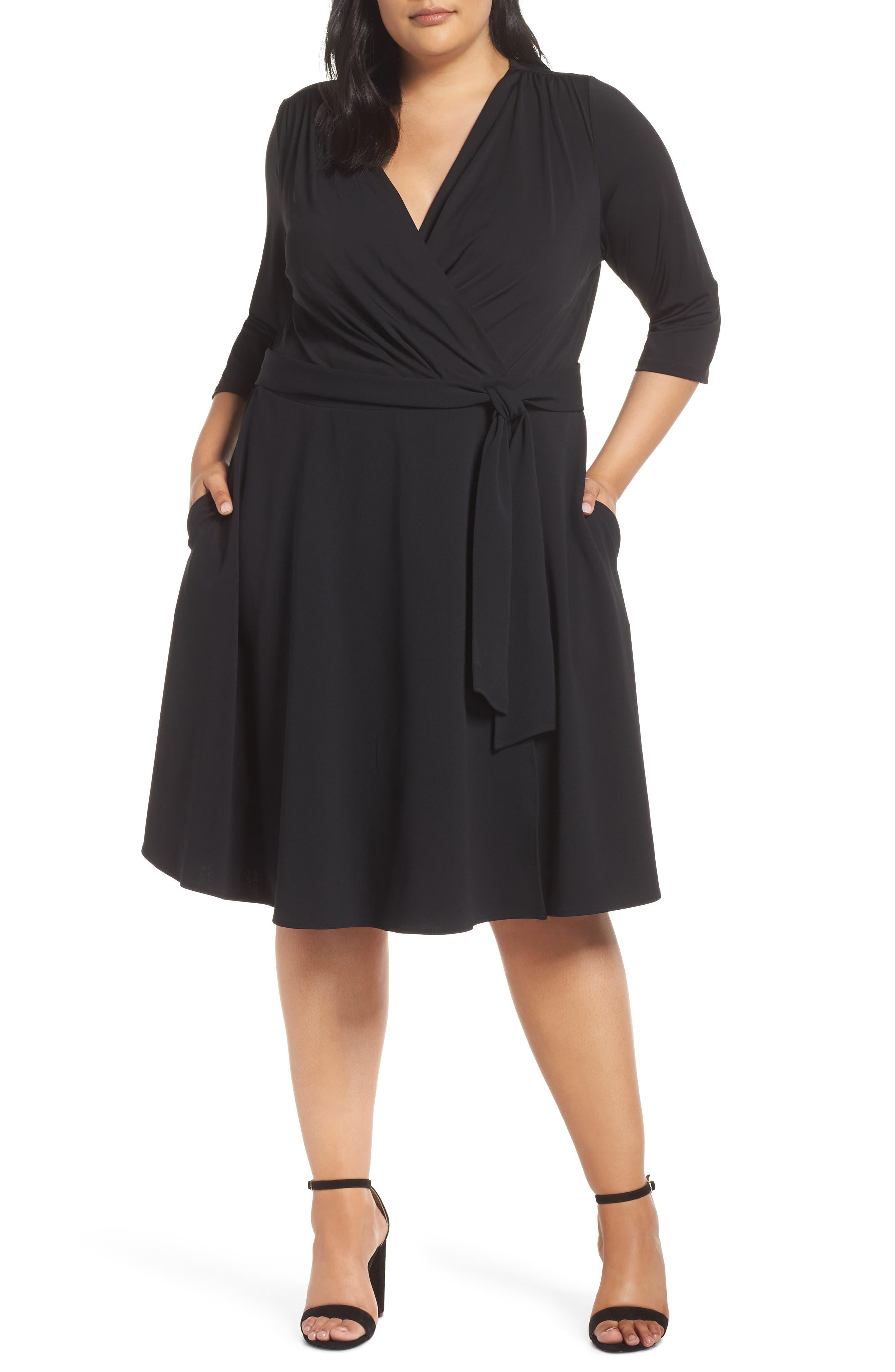 ECI Wrap Dress, Main, color, 001