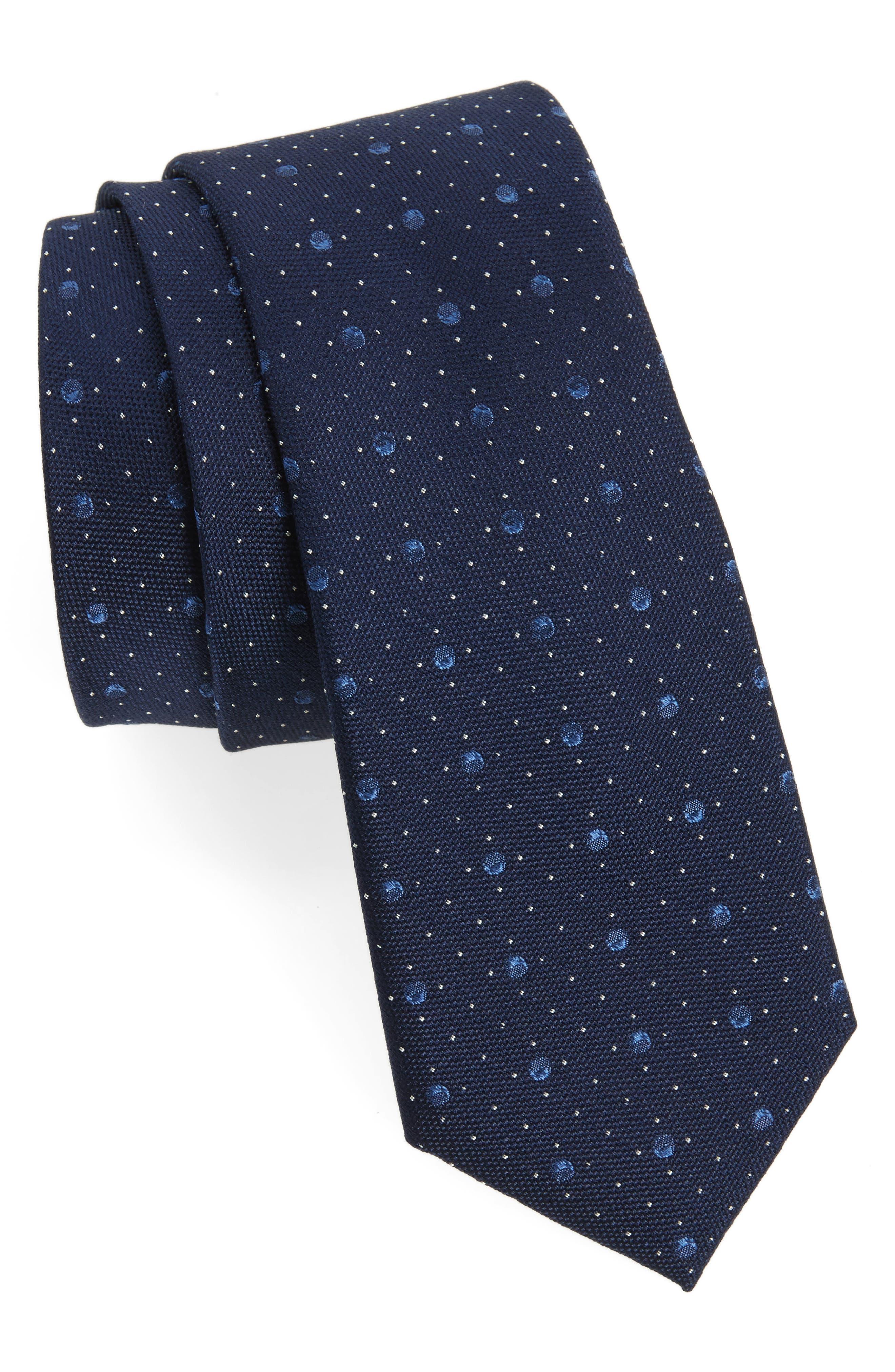3D Dot Silk Tie,                         Main,                         color, 411