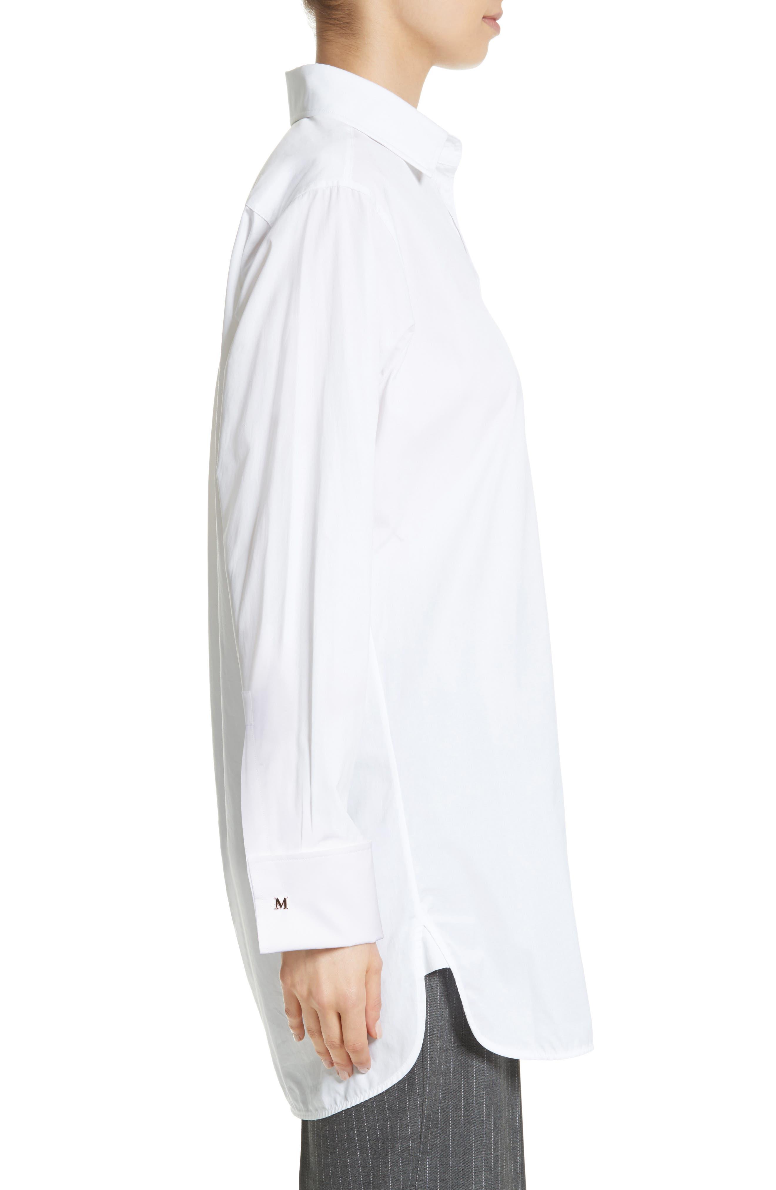 Visivo Cotton Poplin Shirt,                             Alternate thumbnail 3, color,                             101