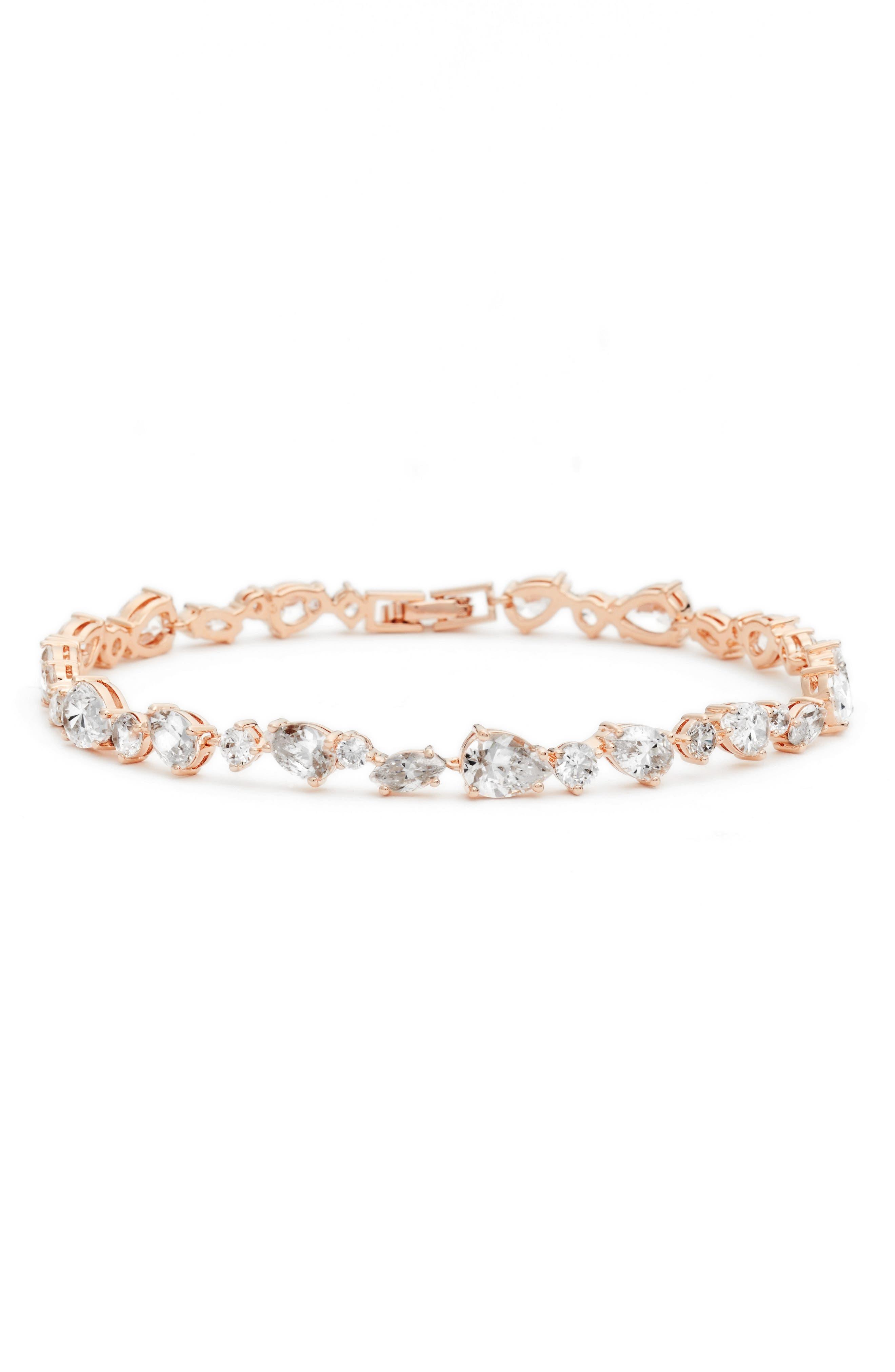 Ava Line Bracelet,                             Main thumbnail 1, color,                             ROSE GOLD