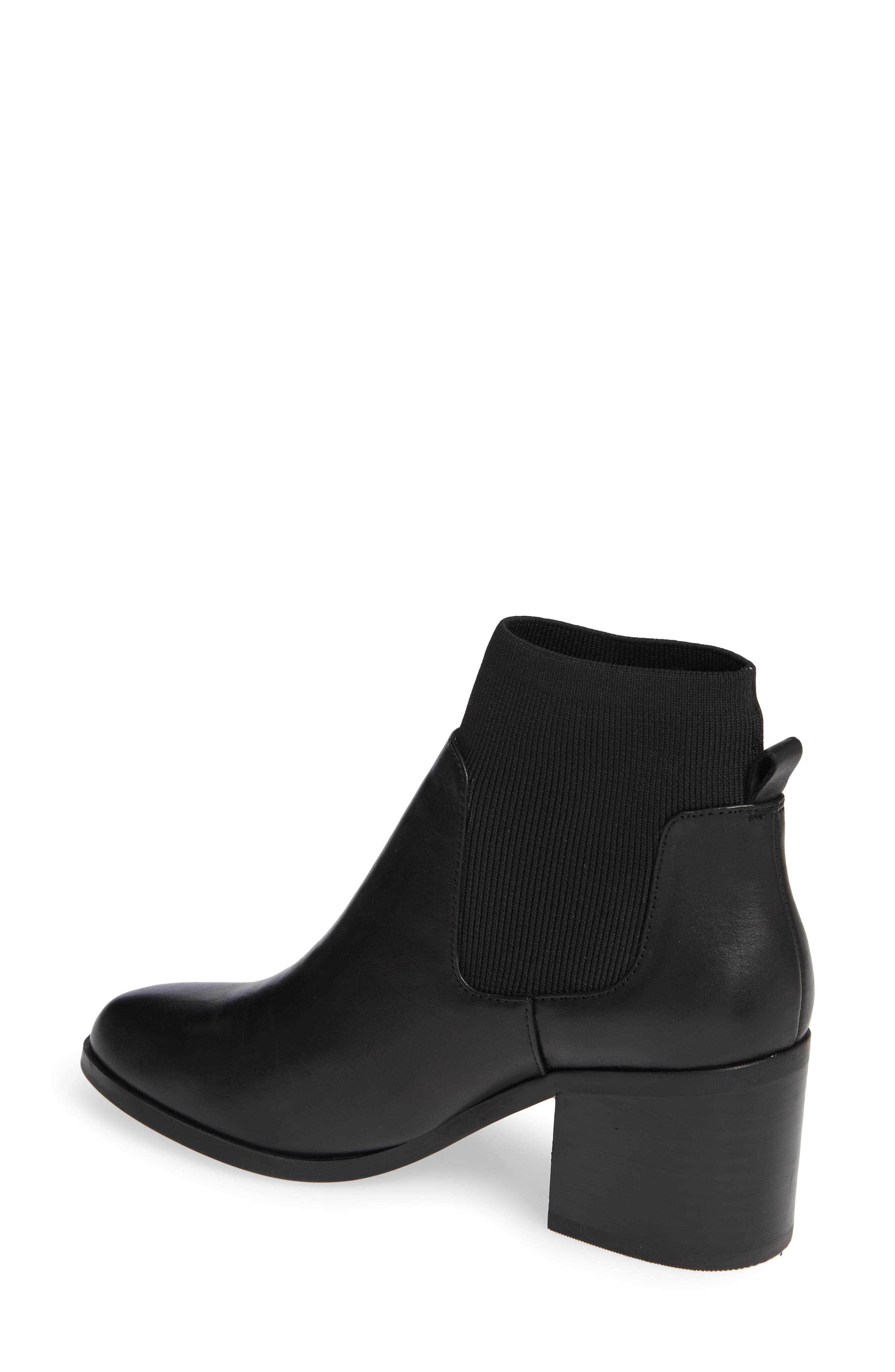 Erika Bootie,                             Alternate thumbnail 2, color,                             BLACK LEATHER