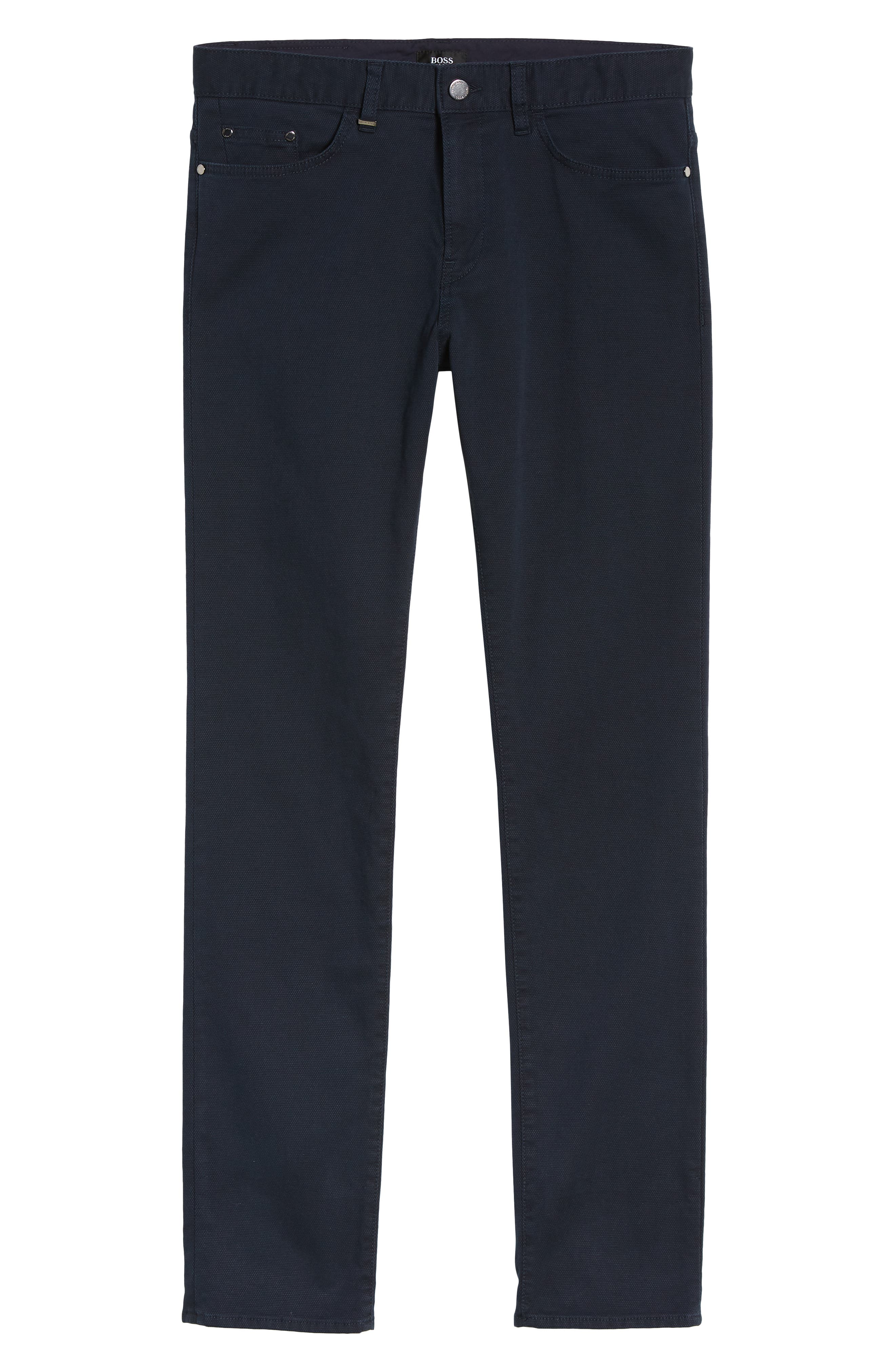 Delaware Slim Fit Structure Jeans,                             Alternate thumbnail 18, color,