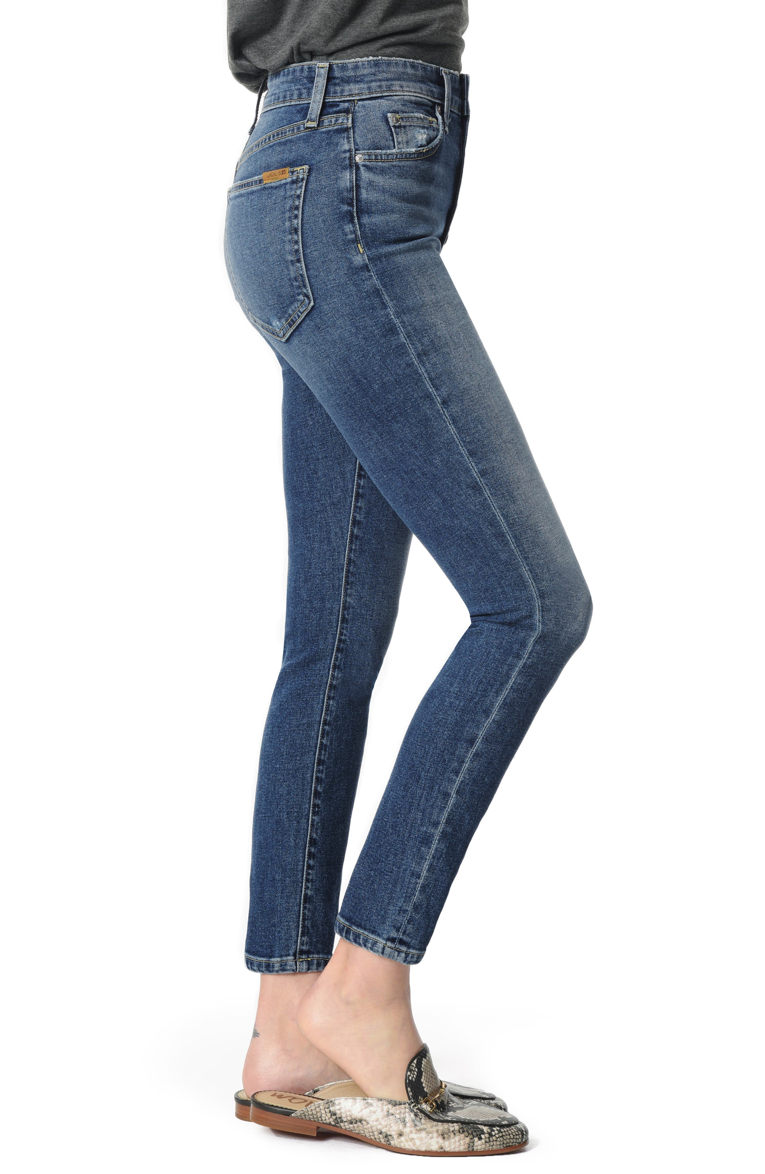 Charlie High Waist Ankle Skinny Jeans,                             Alternate thumbnail 3, color,                             PAYTON