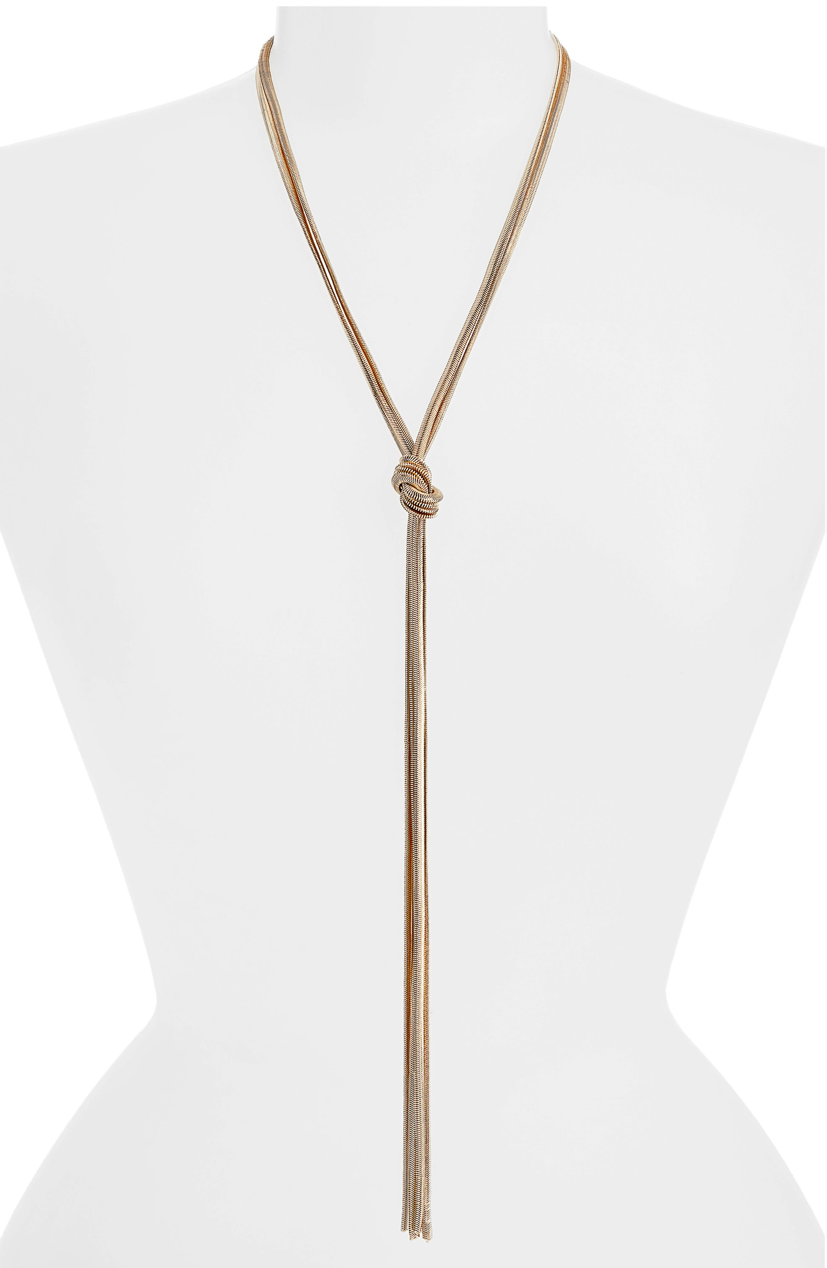 Exaggerated Lariat Necklace,                         Main,                         color, GOLD