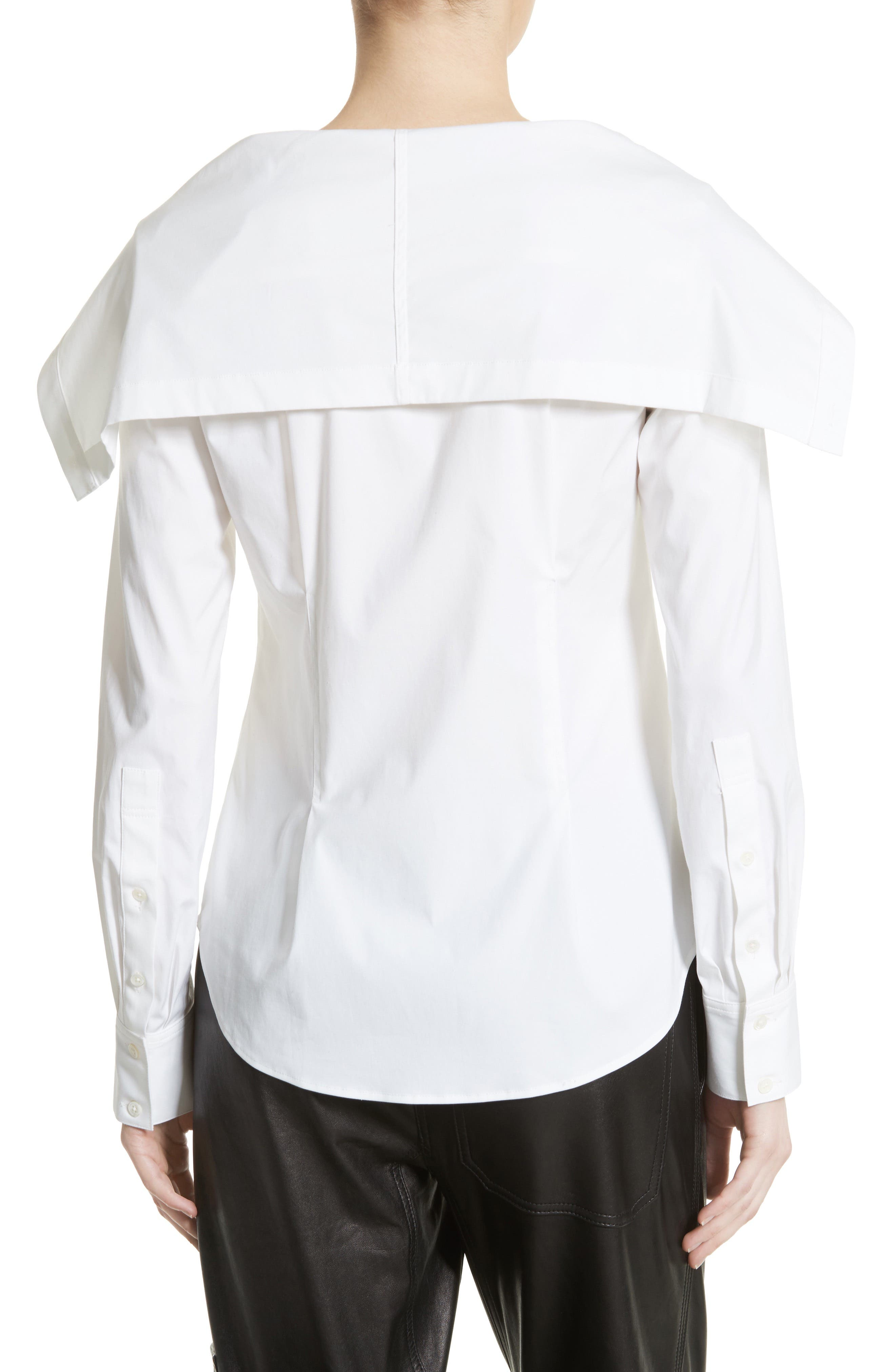Doherty Stretch Cotton Sailor Shirt,                             Alternate thumbnail 2, color,                             100