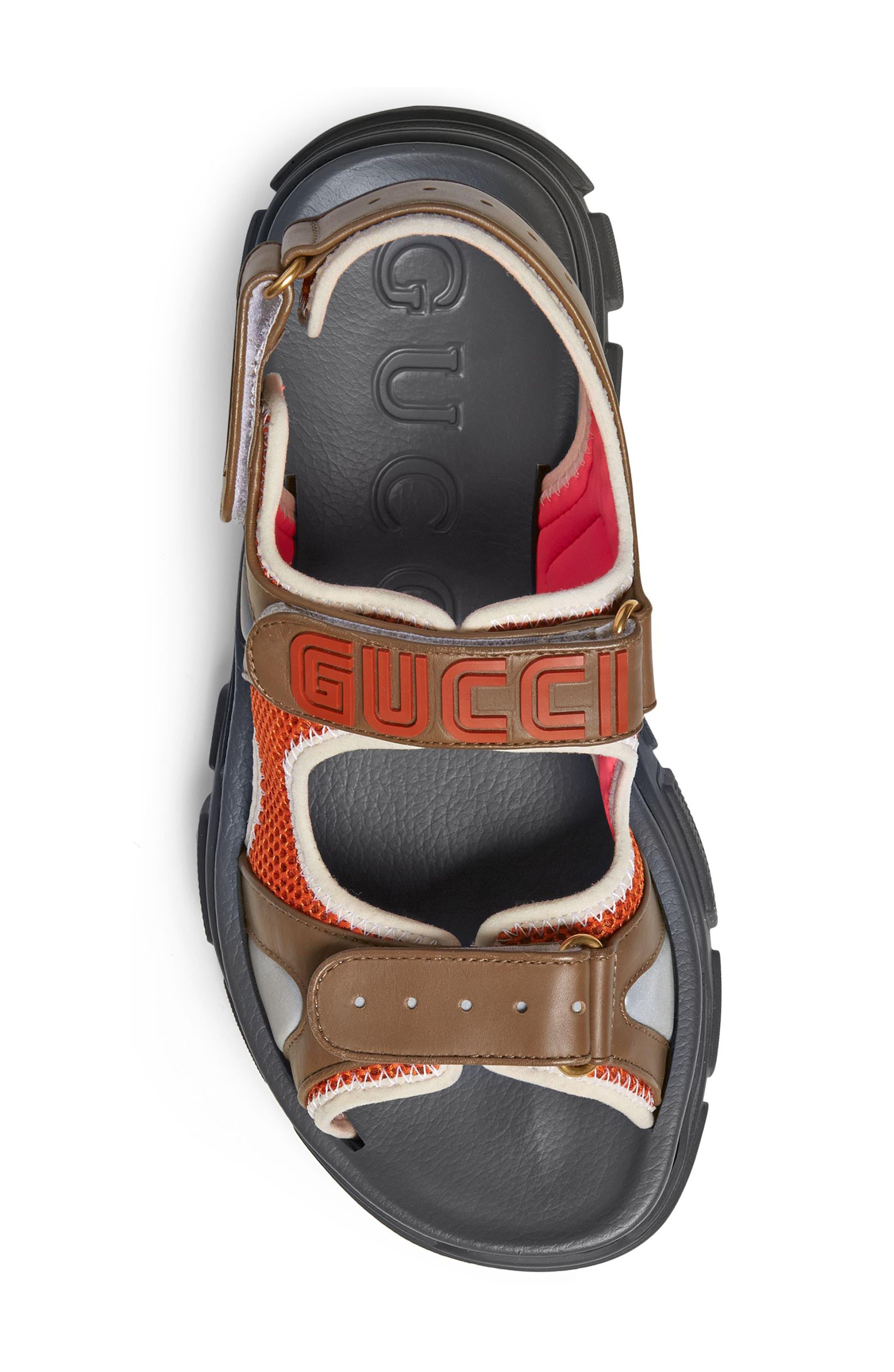 Agru Sport Sandal,                             Alternate thumbnail 4, color,                             BROWN
