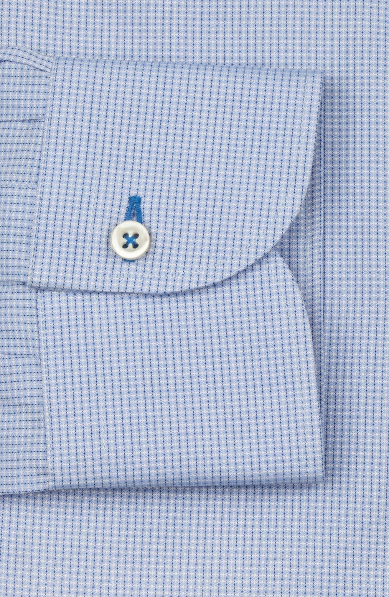 Regular Fit Solid Dress Shirt,                             Alternate thumbnail 6, color,                             LIGHT BLUE