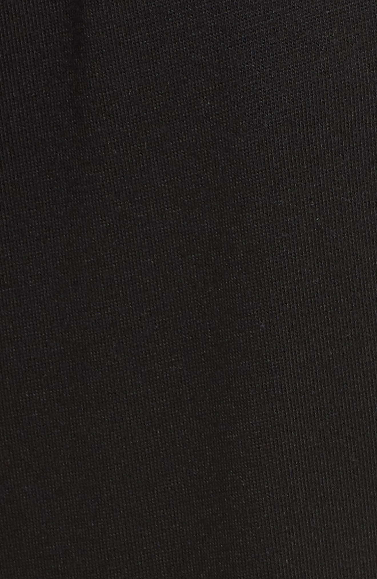 Crop Pajama Pants,                             Alternate thumbnail 5, color,                             BLACK