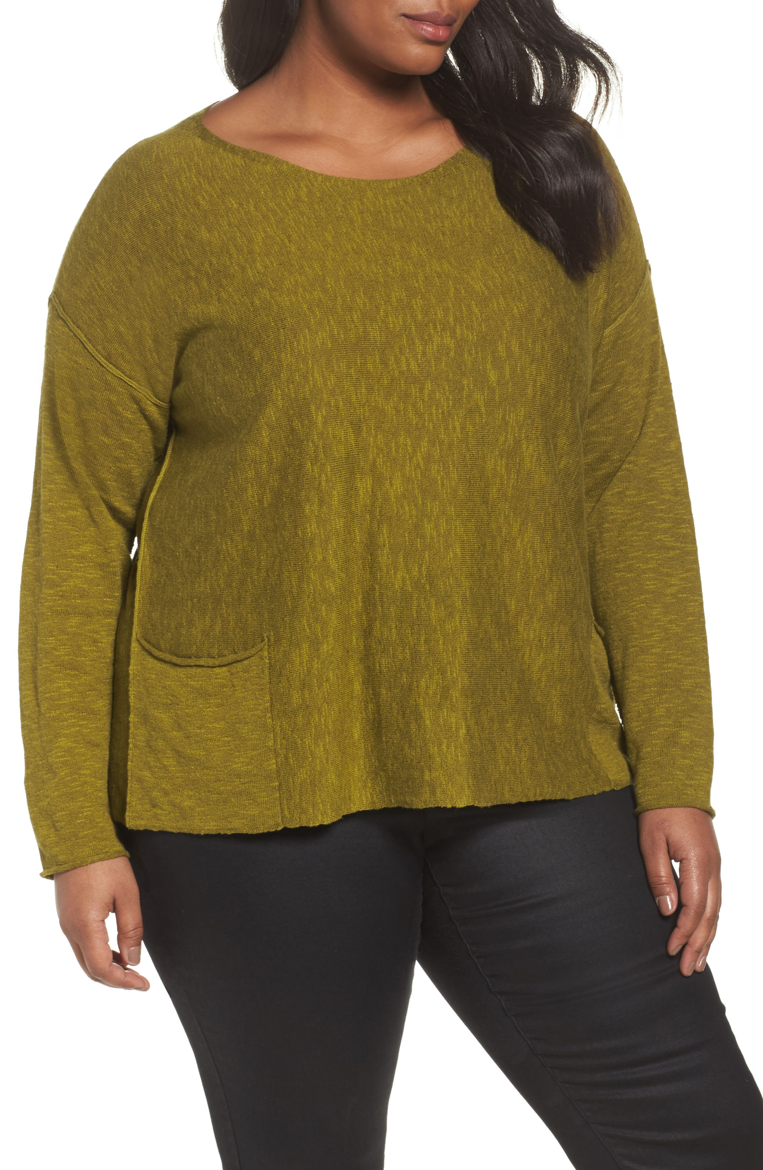 Organic Linen & Cotton Sweater,                             Main thumbnail 1, color,                             201