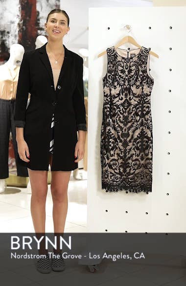 Embroidered Mesh Sheath Dress, sales video thumbnail