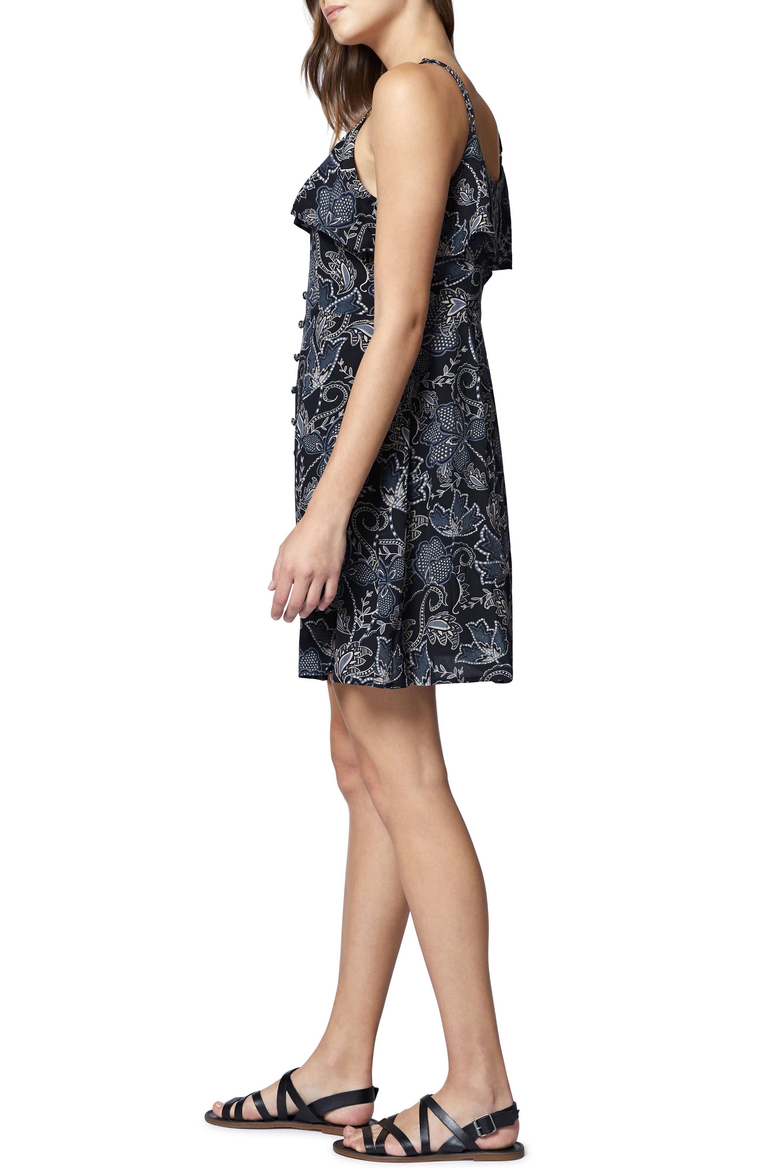 Rafaella Floral Print Dress,                             Alternate thumbnail 5, color,