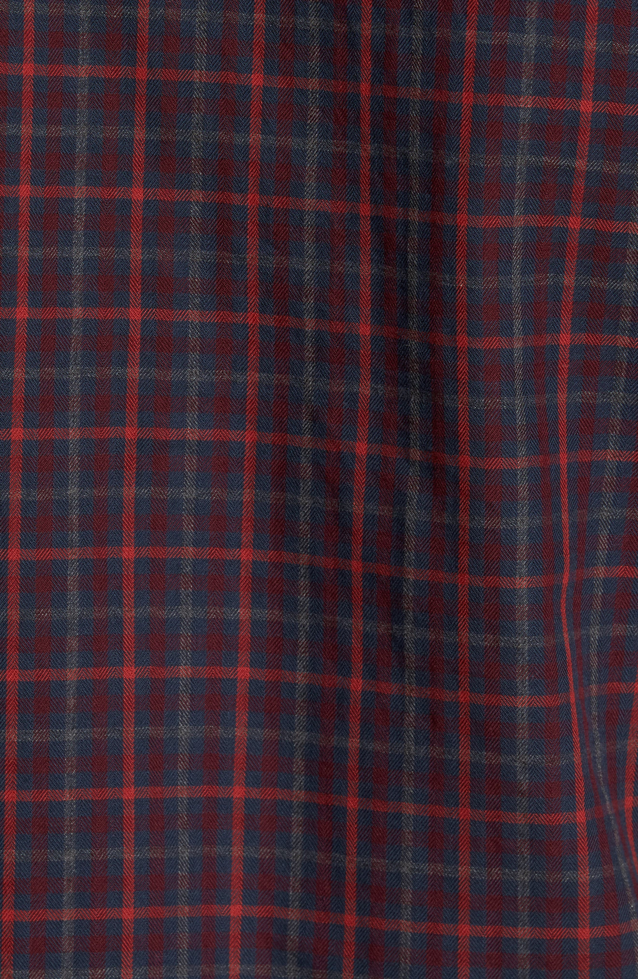 Brushed Flannel Gingham Shirt,                             Alternate thumbnail 5, color,                             413