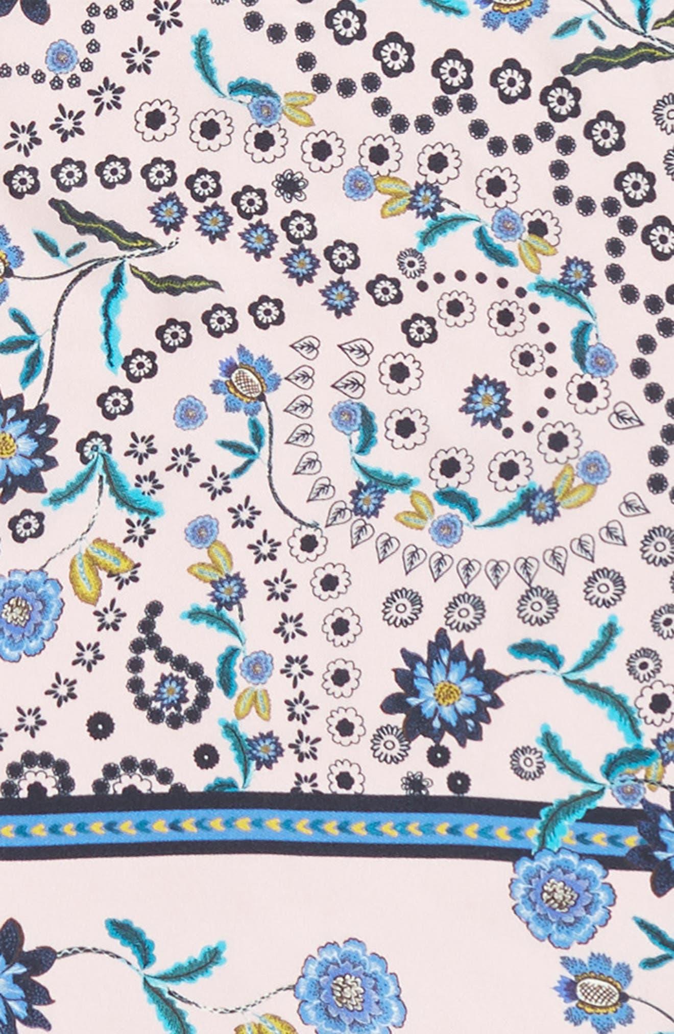 Mixed Floral Paisley Silk Bandana,                             Alternate thumbnail 4, color,                             650
