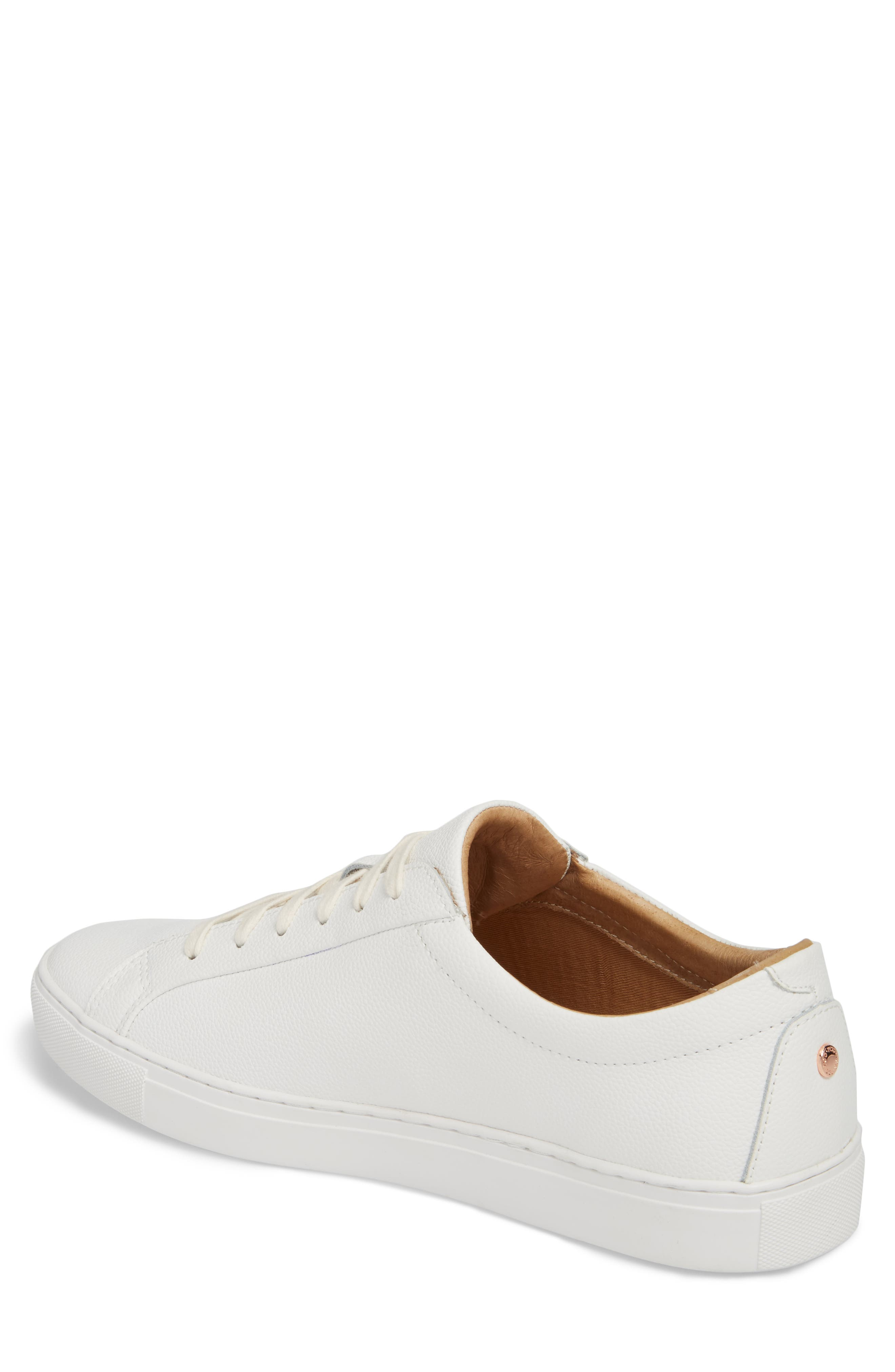 Kennedy Low Top Sneaker,                             Alternate thumbnail 2, color,                             WHITE LEATHER