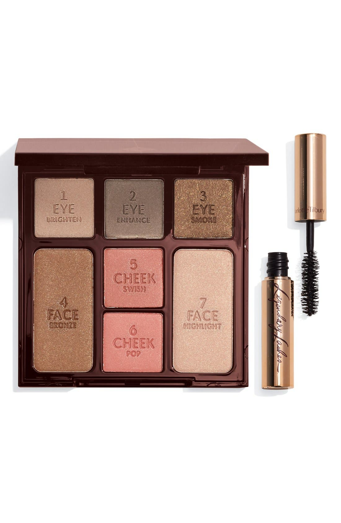 CHARLOTTE TILBURY,                             Instant Beauty Palette - The Dolce Vita Look 5-Minute Face On the Go,                             Main thumbnail 1, color,                             000
