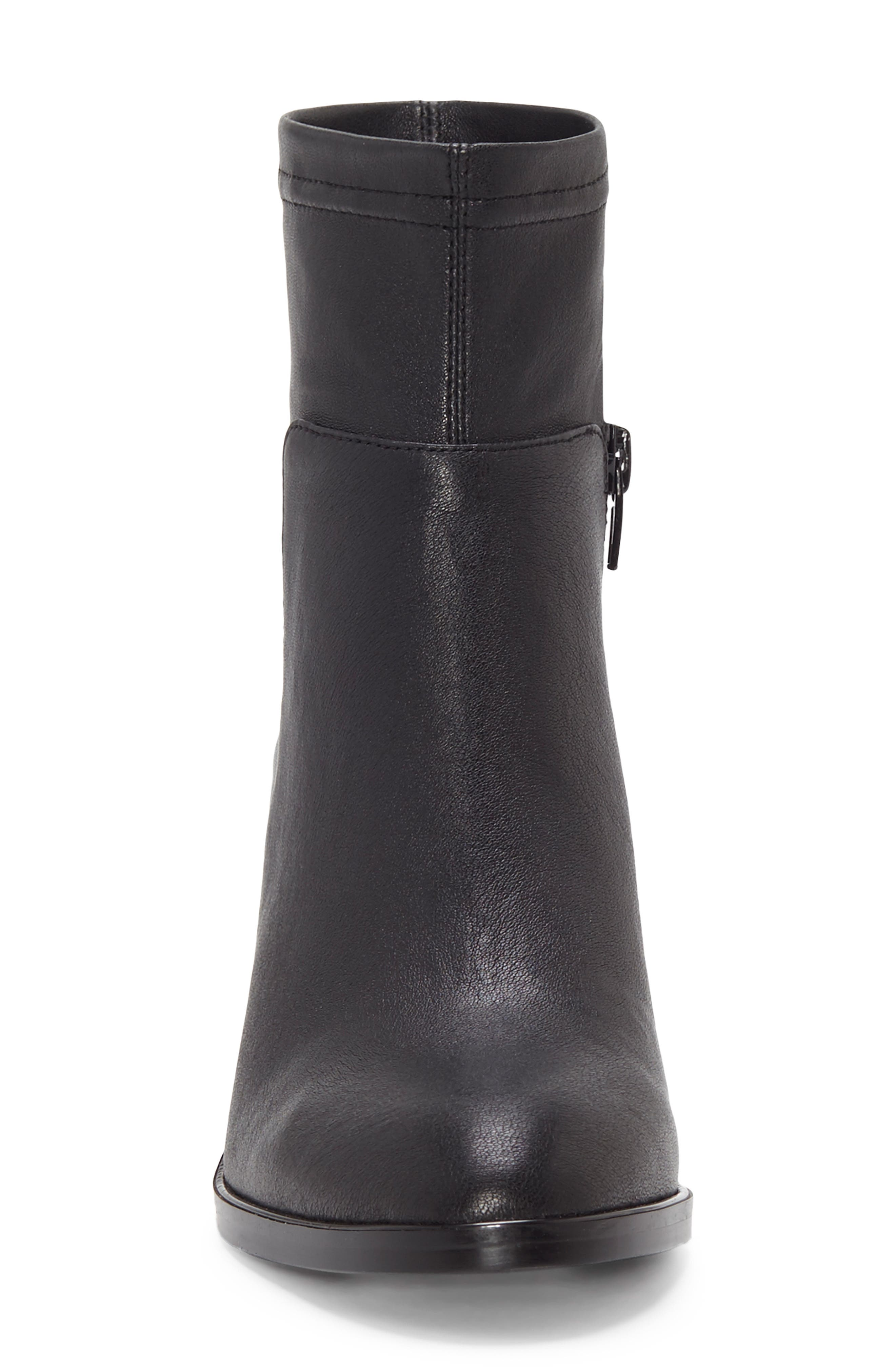 Jeandra Bootie,                             Alternate thumbnail 4, color,                             BLACK LEATHER
