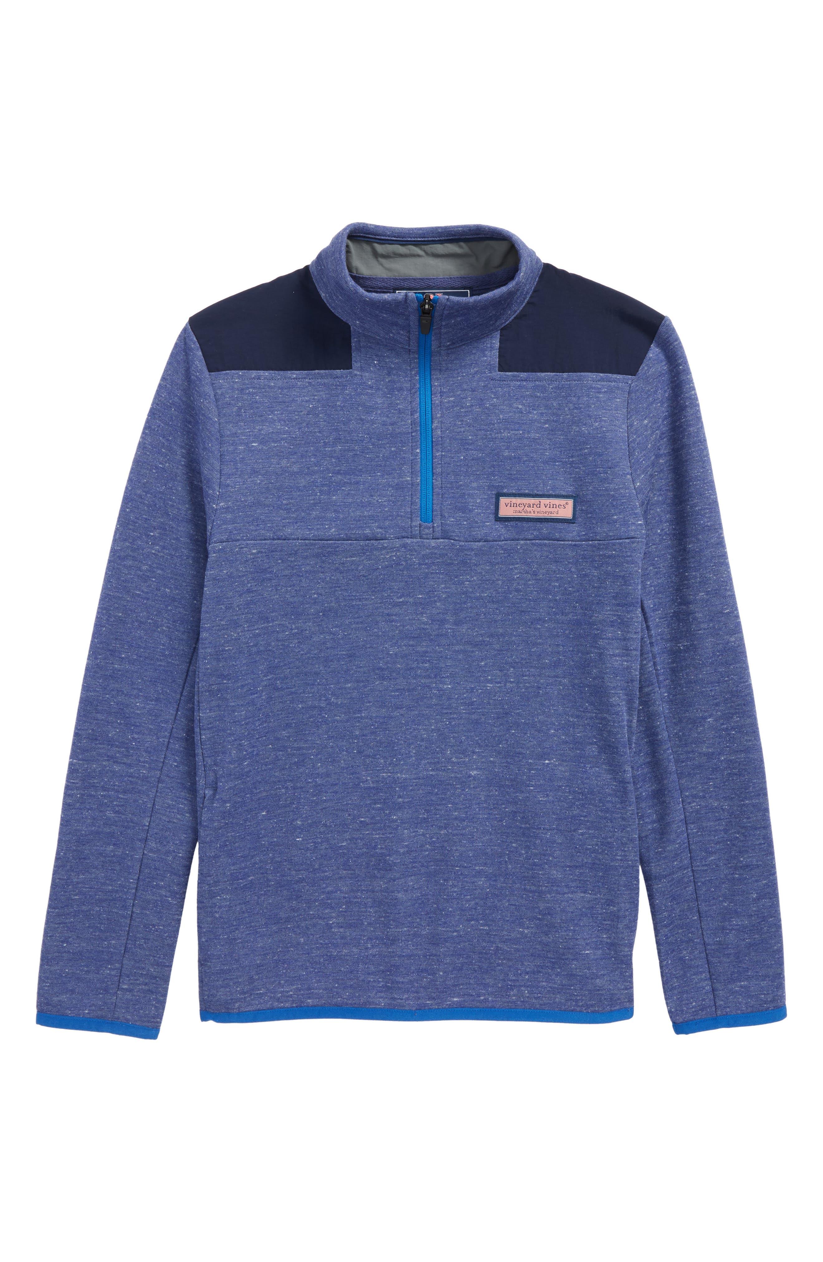 Mesh Shep Quarter Zip Pullover,                             Main thumbnail 1, color,                             405