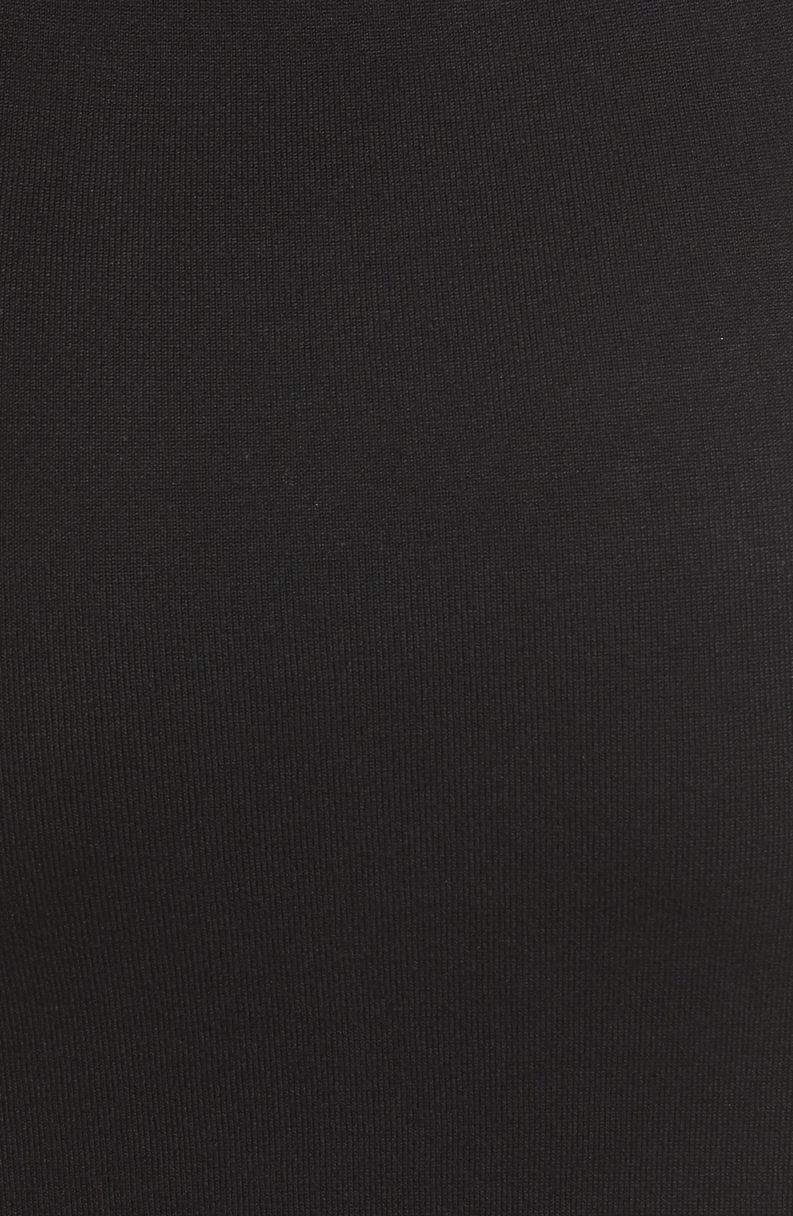 Elbow Sleeve Sweater Dress,                             Alternate thumbnail 5, color,                             001