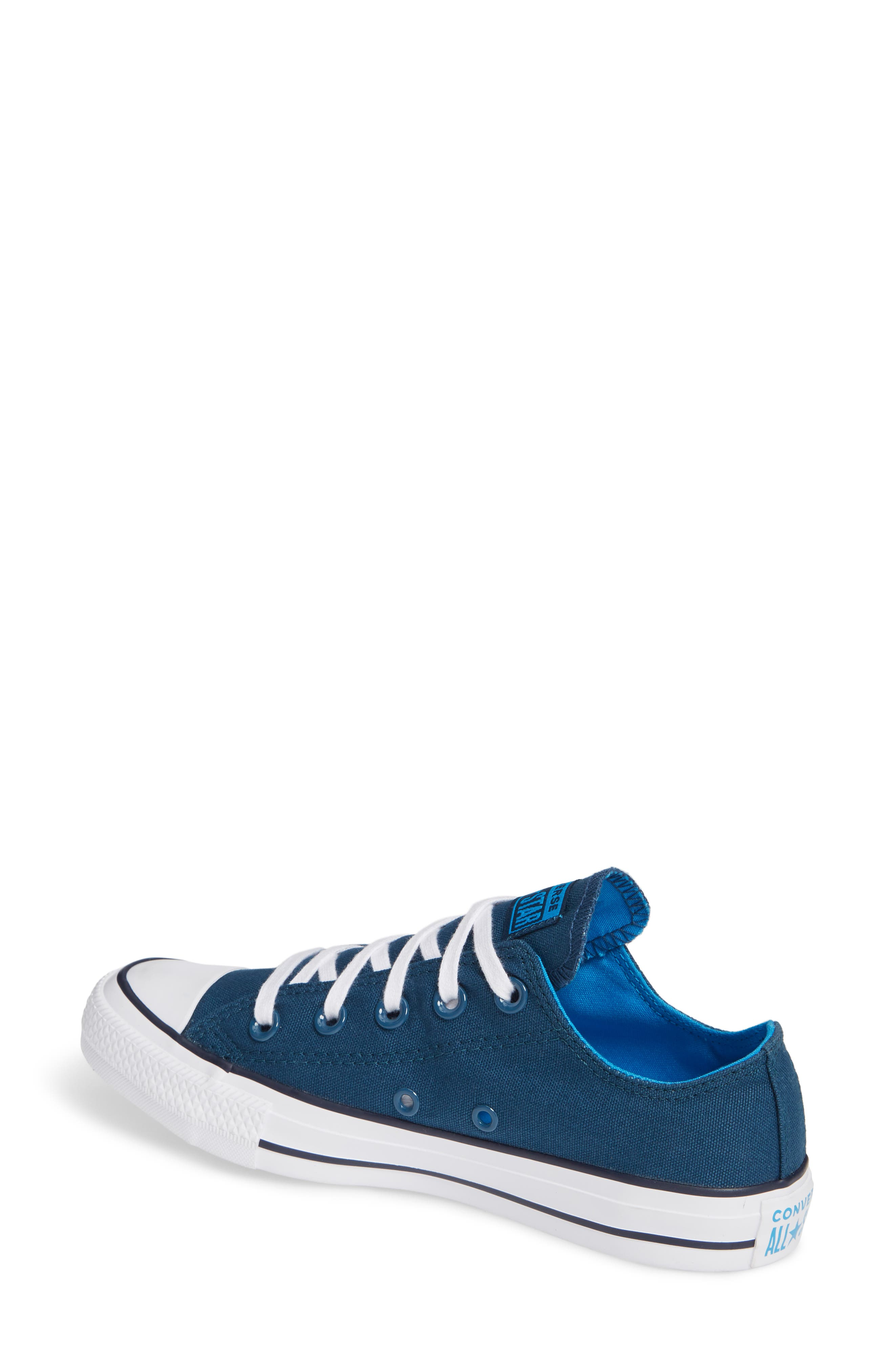 Chuck Taylor<sup>®</sup> All Star<sup>®</sup> Seasonal Ox Low Top Sneaker,                             Alternate thumbnail 2, color,                             BLUE FIR