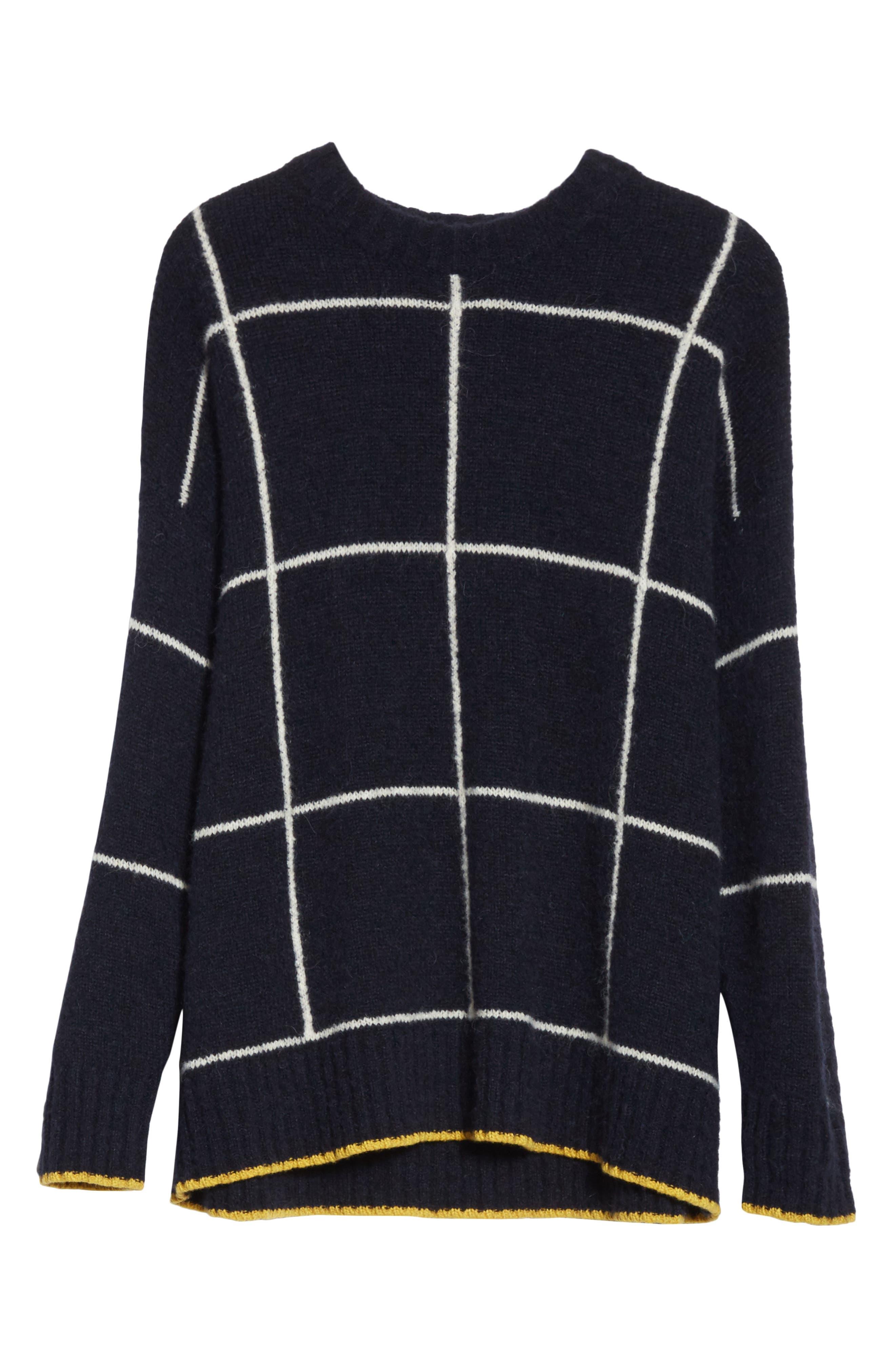 Fionn Windowpane Oversized Sweater,                             Alternate thumbnail 6, color,                             470