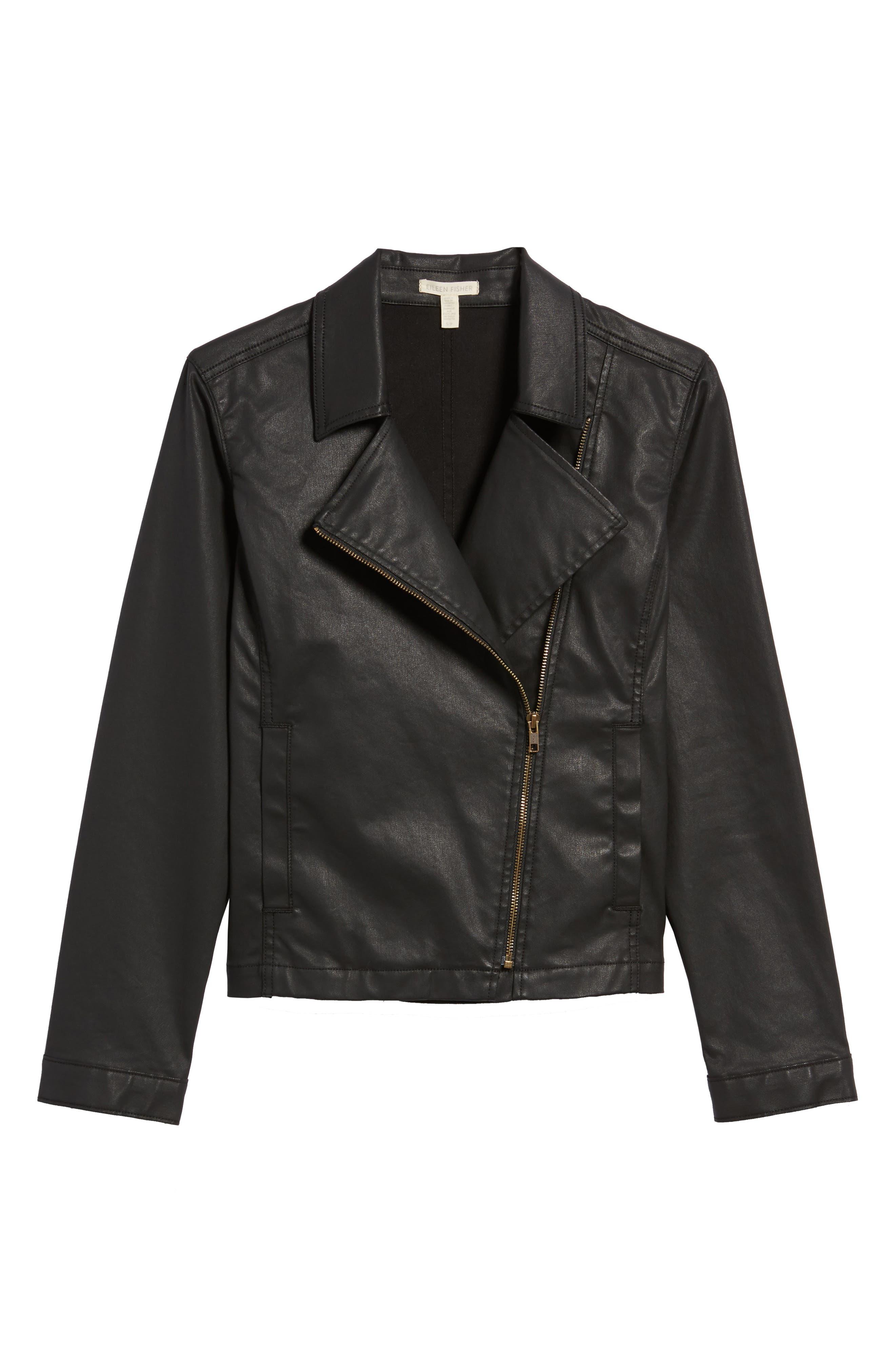 Waxed Moto Jacket,                             Alternate thumbnail 5, color,                             001