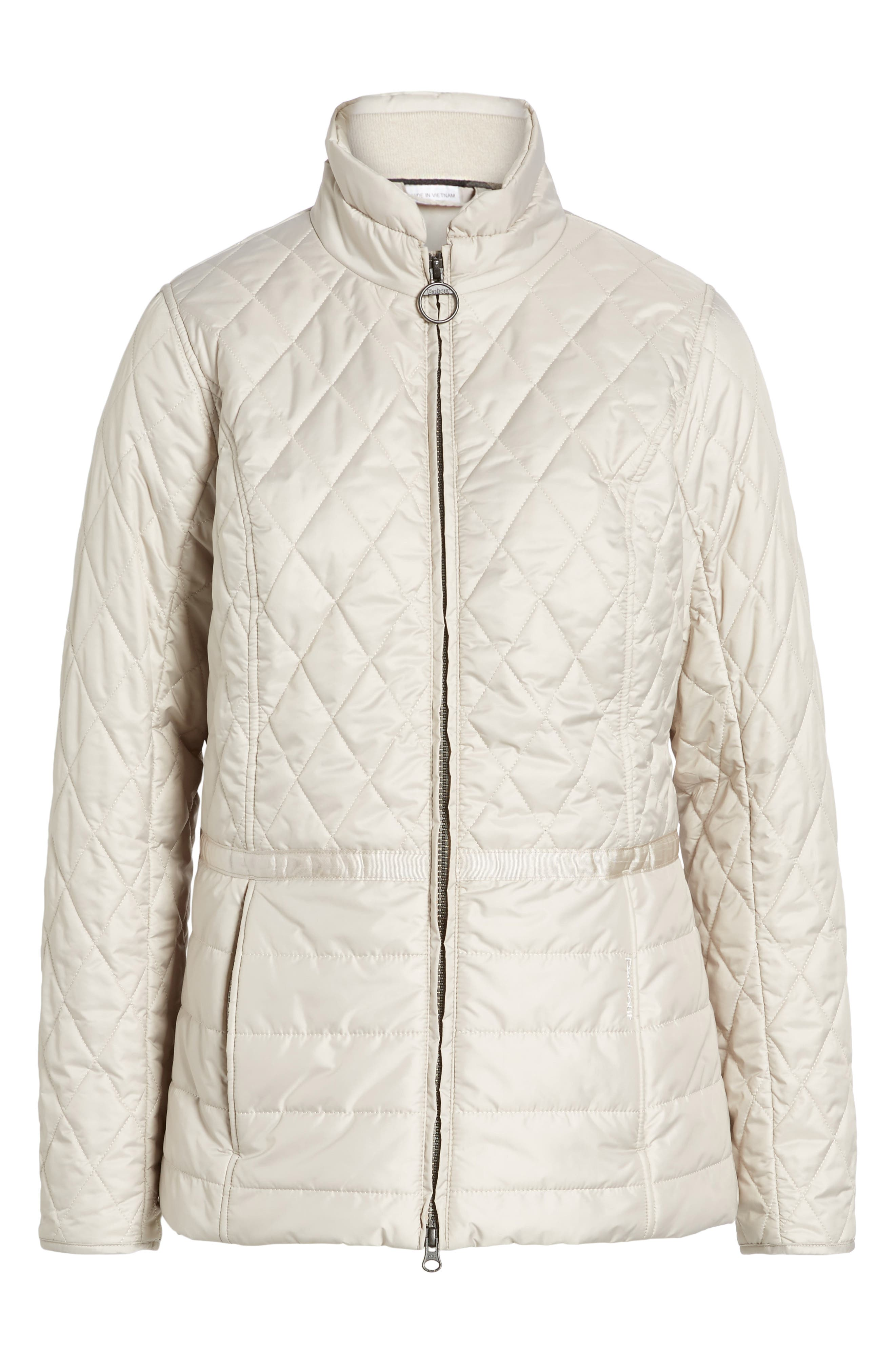 Water Resistant Quilted Jacket,                             Alternate thumbnail 5, color,                             070