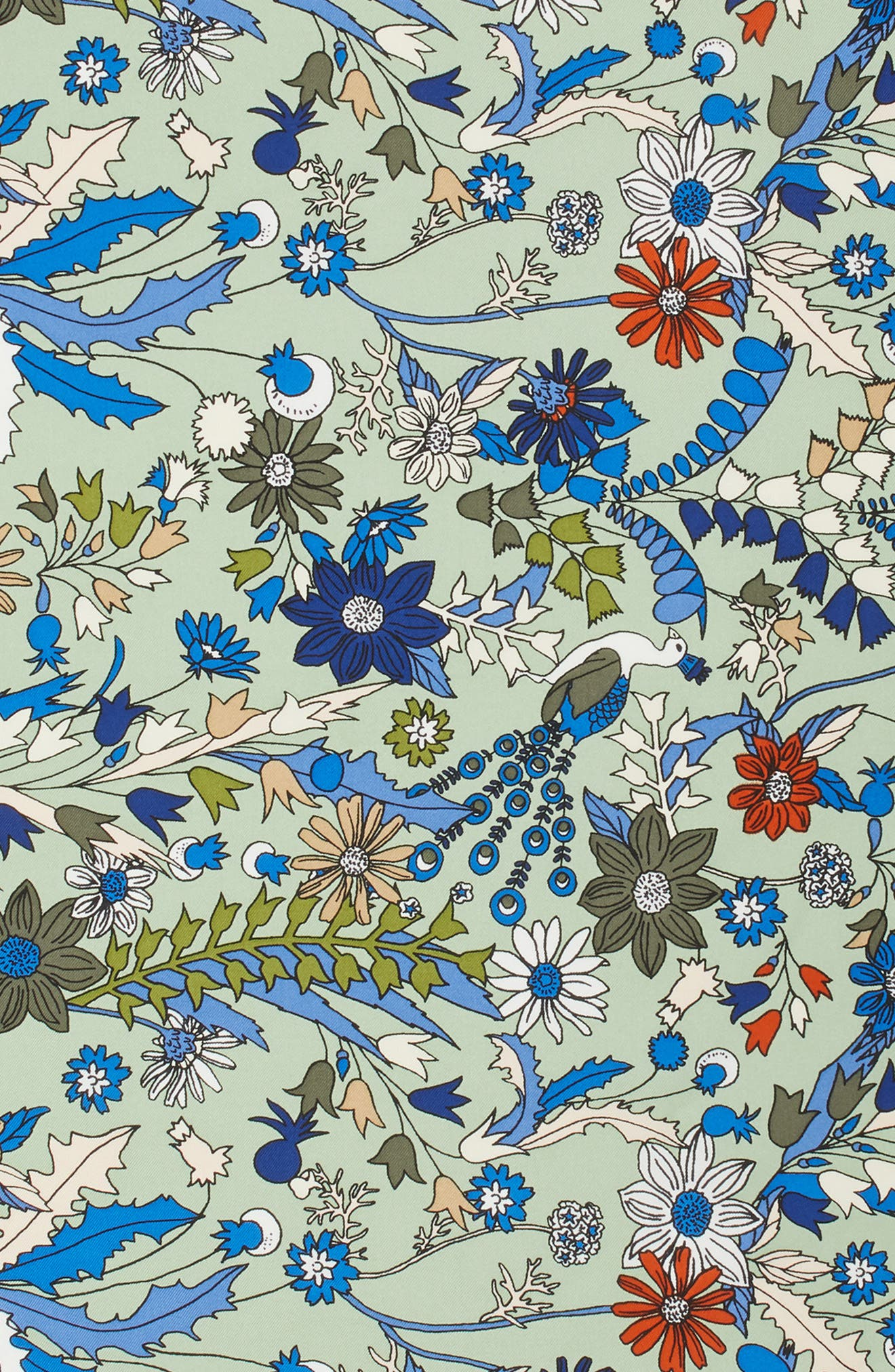 Meadow Folly Silk Scarf,                             Alternate thumbnail 4, color,                             304