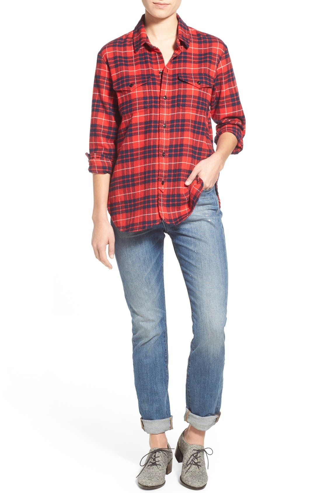 'Perfect Fall' Jeans,                             Alternate thumbnail 6, color,                             400