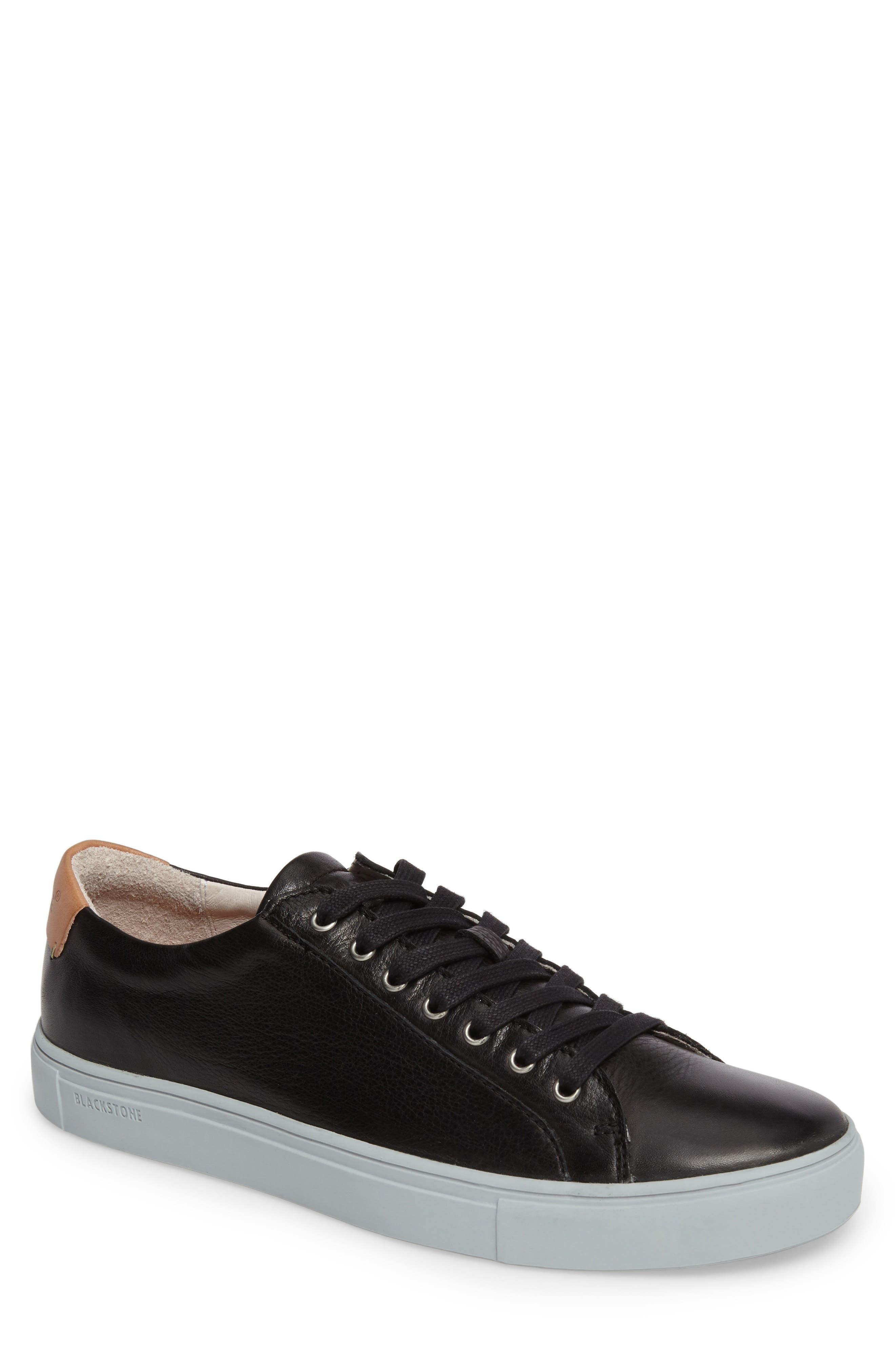 NM01 7 Eyelet Sneaker,                         Main,                         color, BLACK LEATHER