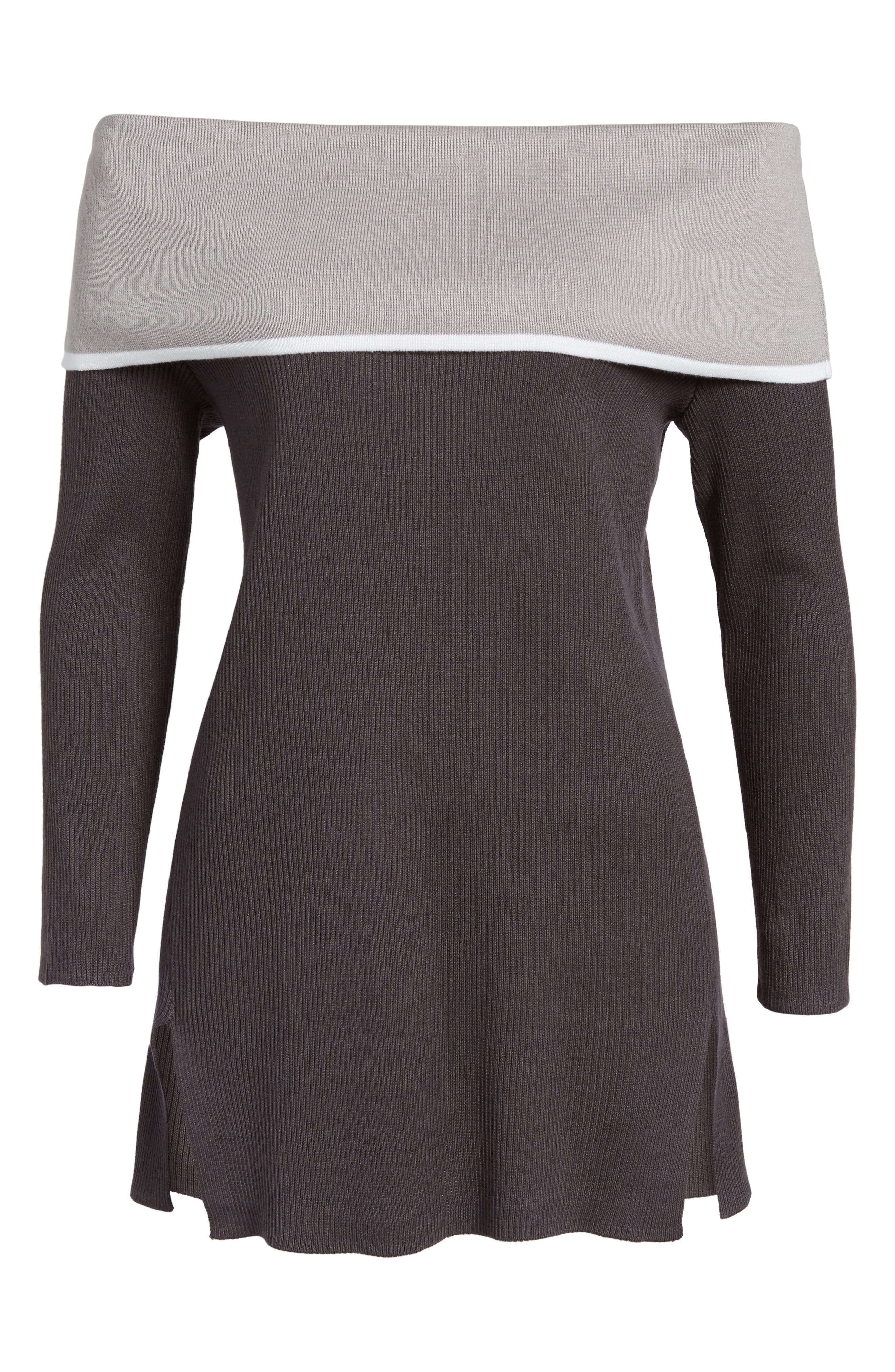 Off the Shoulder Tunic,                             Alternate thumbnail 6, color,