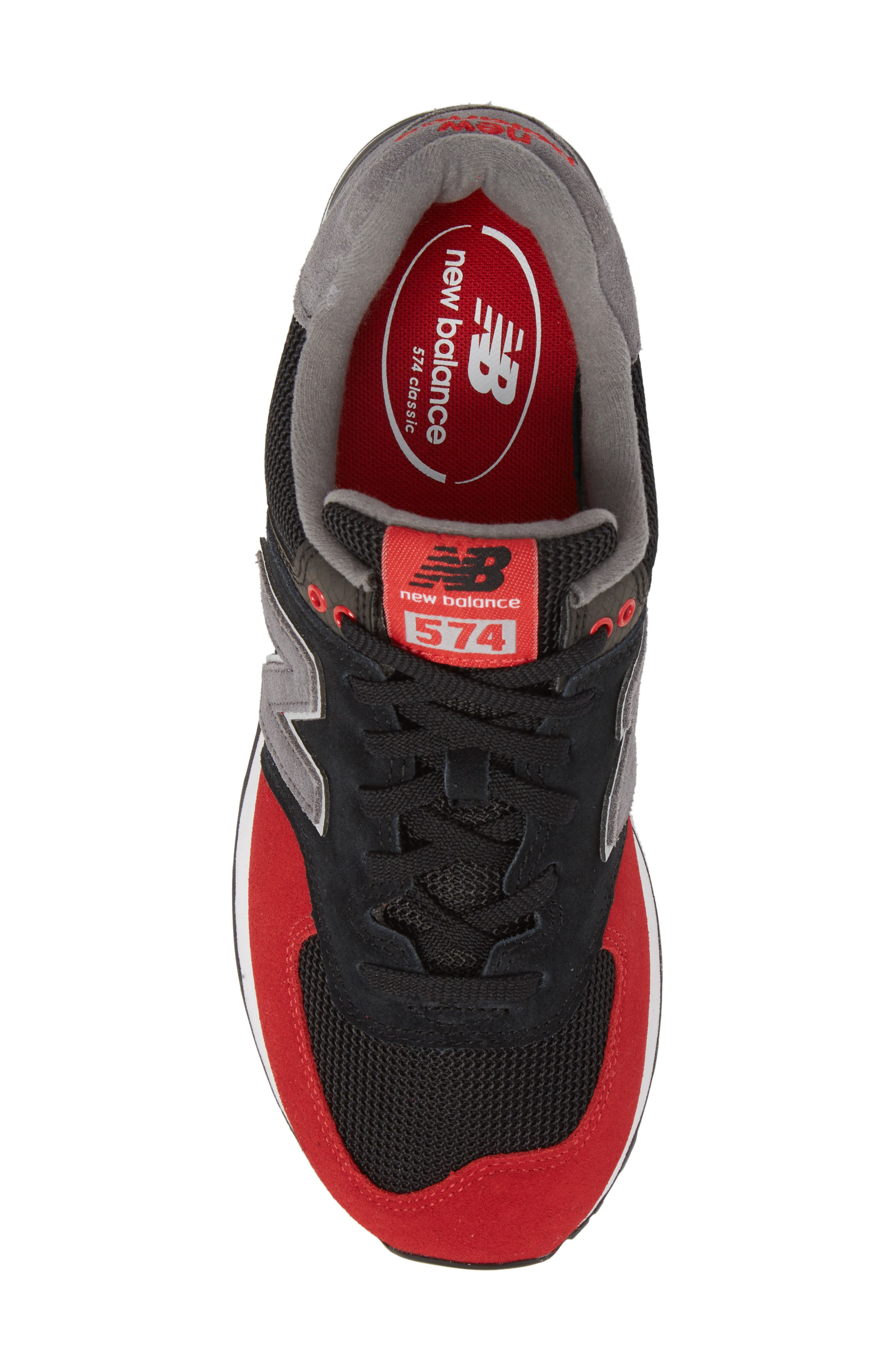 574 Serpent Luxe Sneaker,                             Alternate thumbnail 5, color,                             001