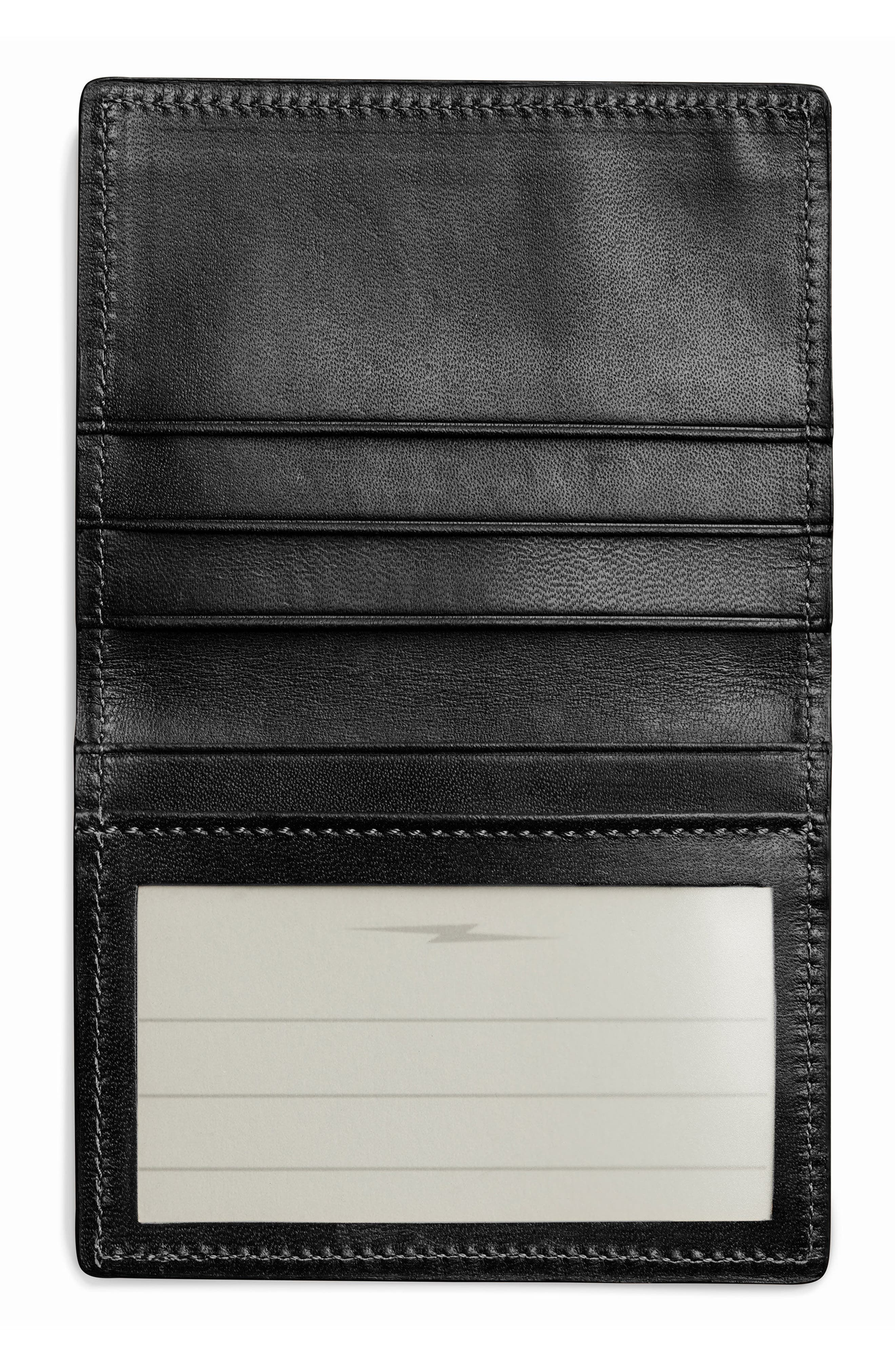 Leather Wallet,                             Alternate thumbnail 3, color,                             001