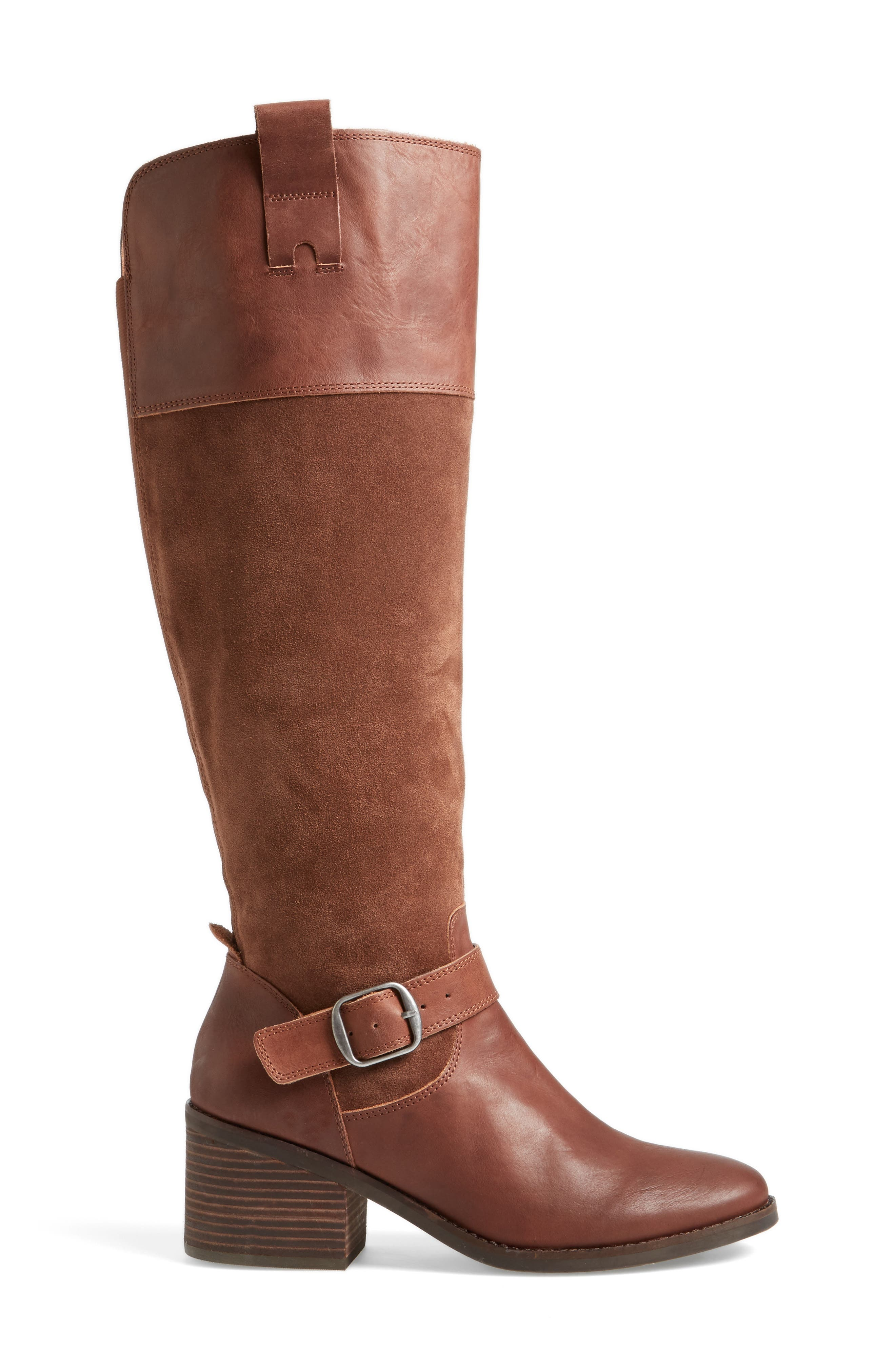 Kailan Ankle Strap Tall Boot,                             Alternate thumbnail 8, color,