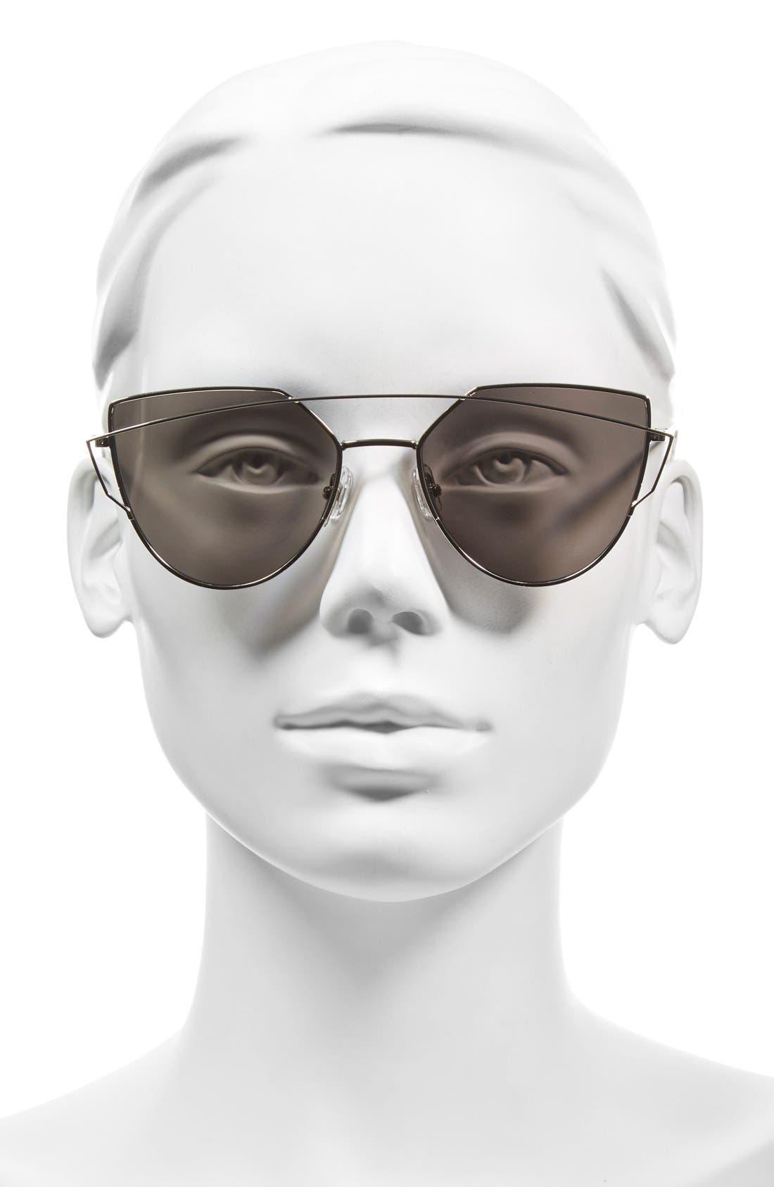 'Love Punch' 55mm Titanium Aviator Sunglasses,                             Alternate thumbnail 2, color,                             040