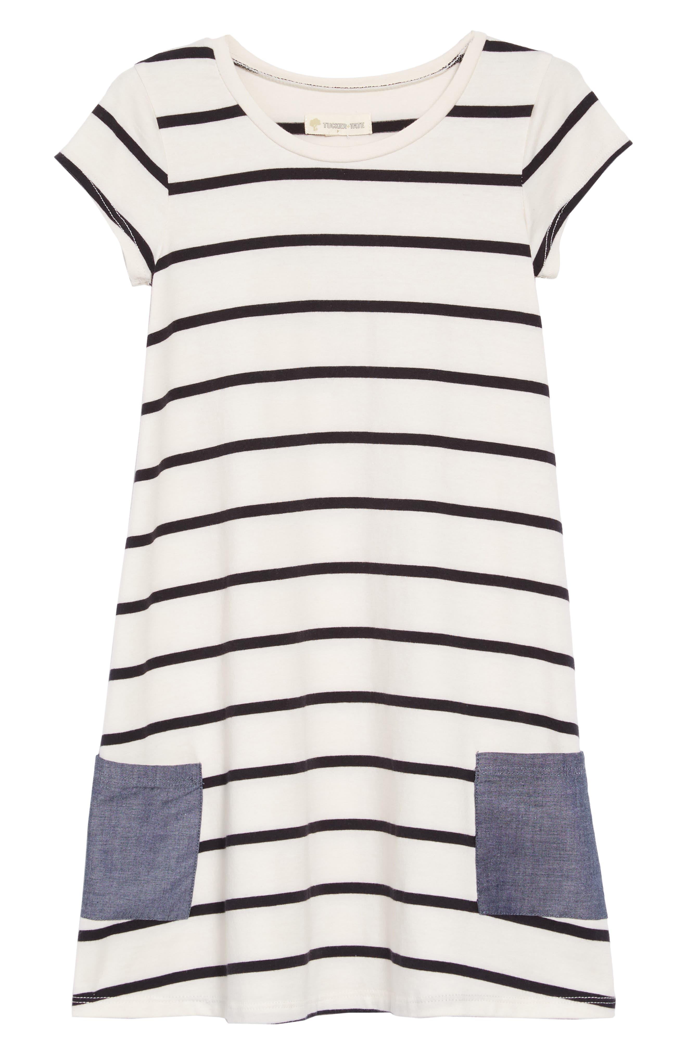 Contrast Pocket T-Shirt Dress,                             Main thumbnail 1, color,                             900