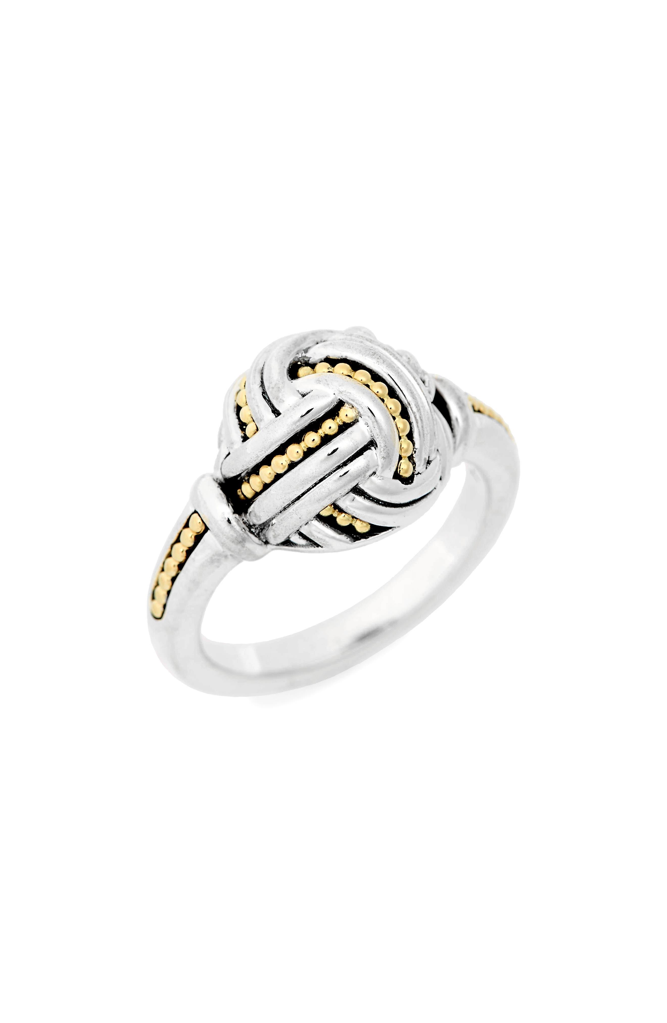 Small Round Ring,                             Main thumbnail 1, color,                             SILVER/ GOLD