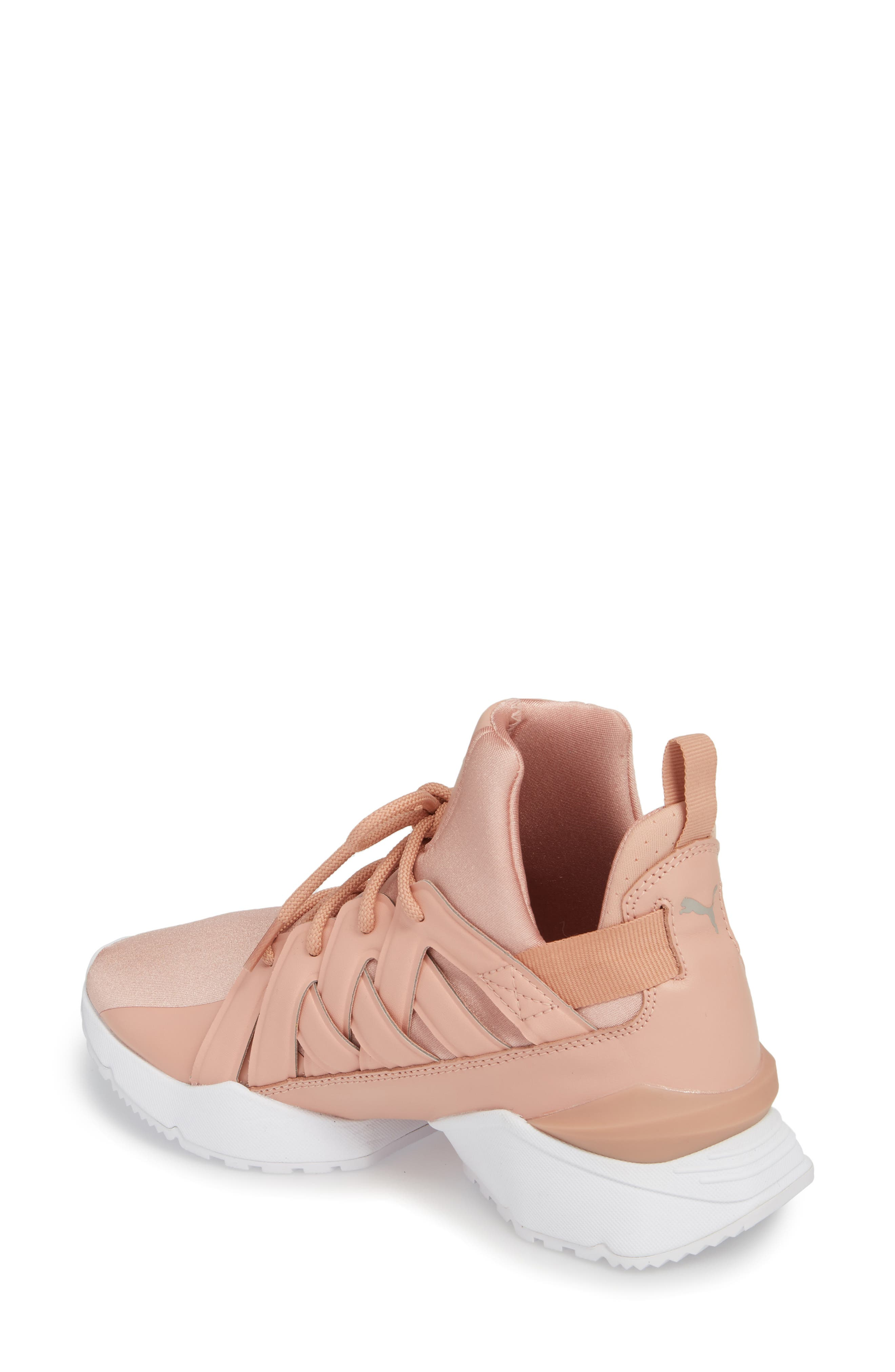 Muse Echo Satin En Pointe High Top Sneaker,                             Alternate thumbnail 4, color,