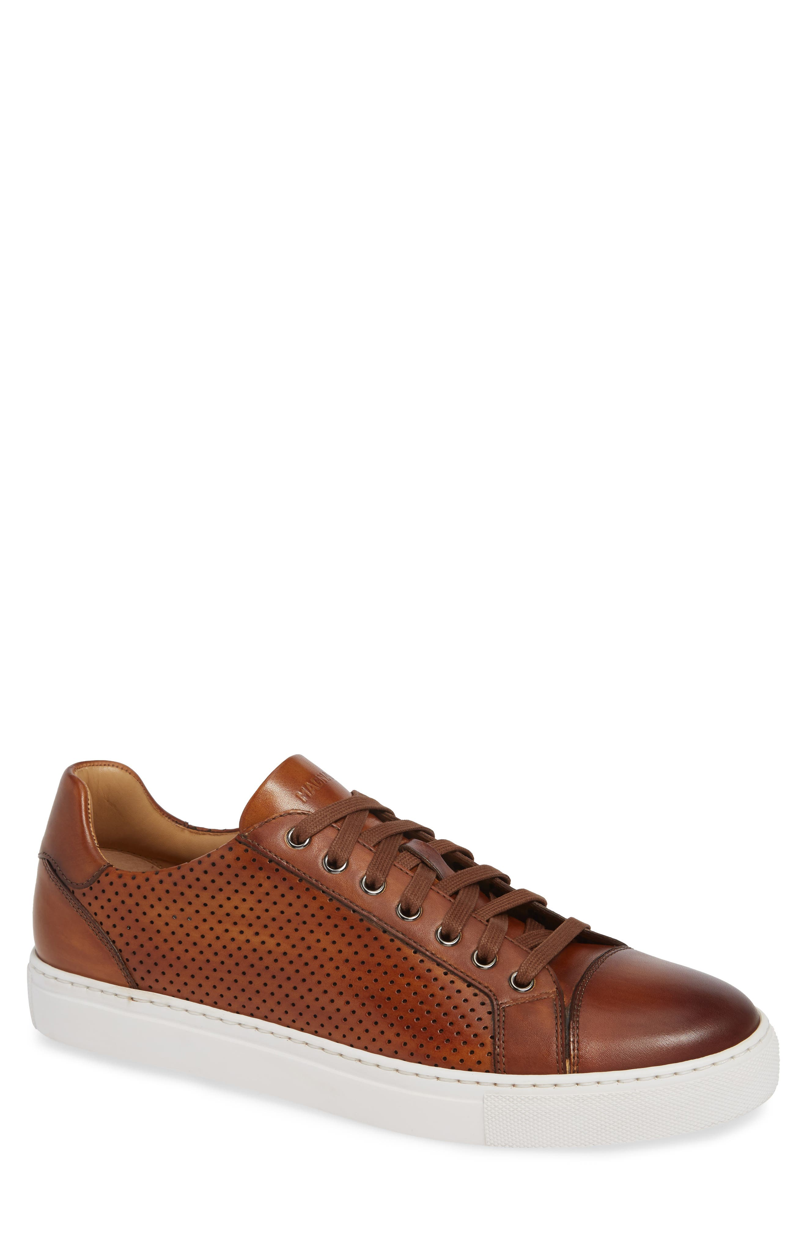Jackson Sneaker,                         Main,                         color, COGNAC LEATHER