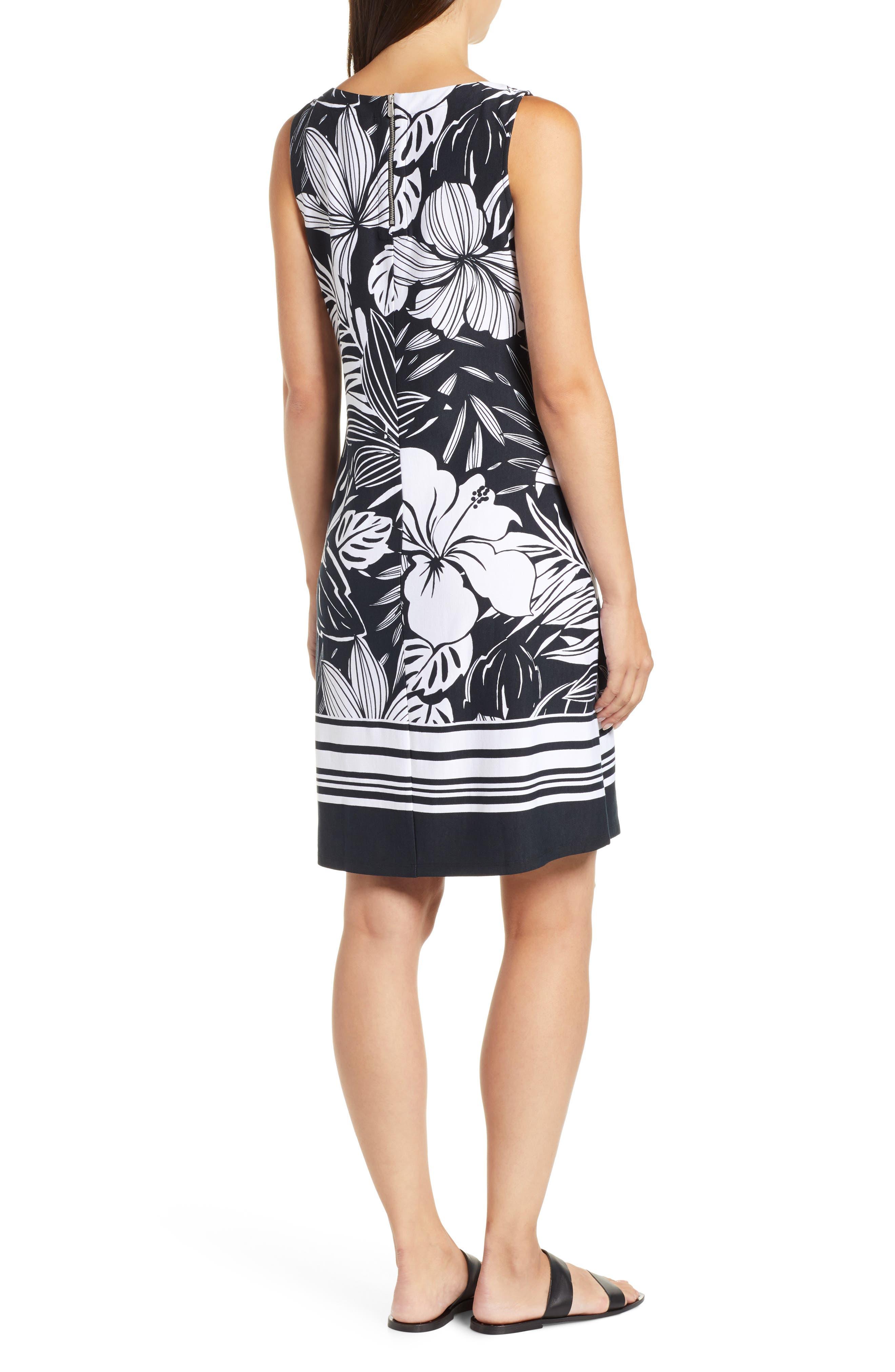 TOMMY BAHAMA,                             Mahana Beach Sheath Dress,                             Alternate thumbnail 2, color,                             BLACK