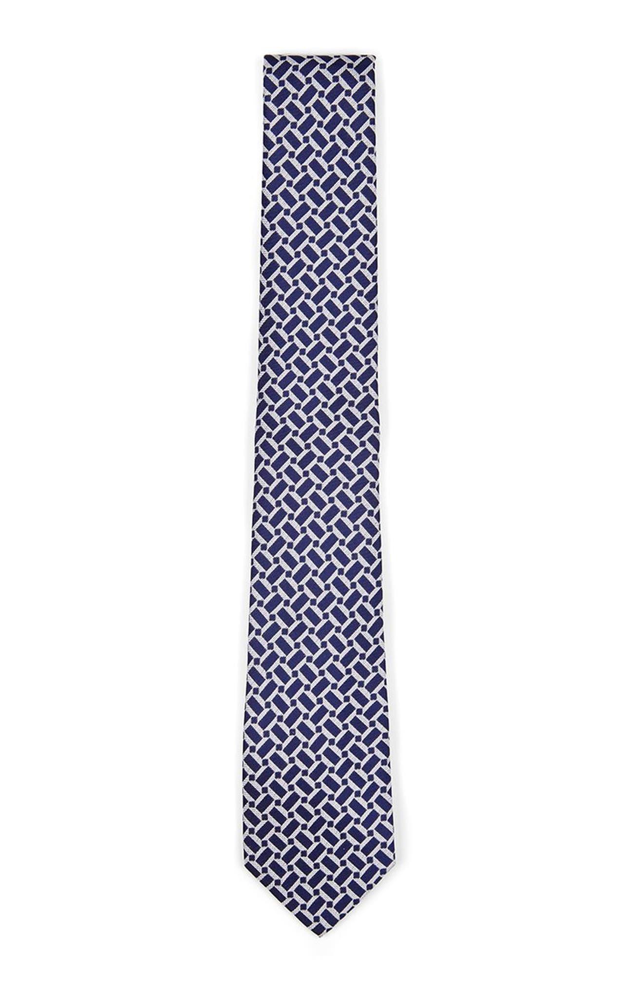 Geo Print Woven Tie,                             Main thumbnail 1, color,                             400