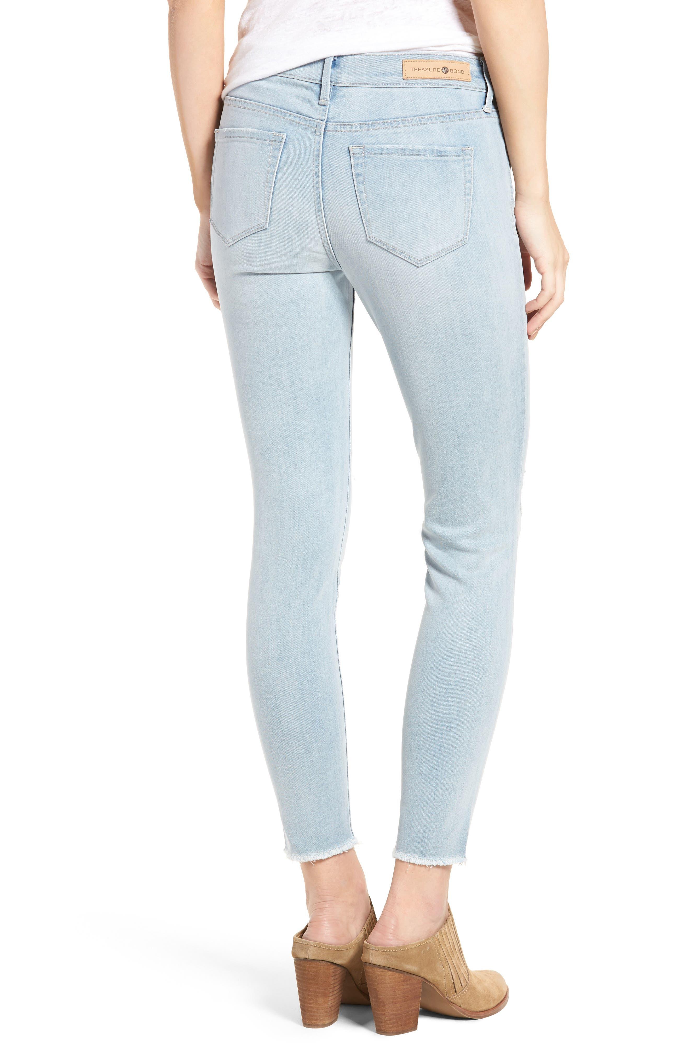 Ankle Skinny Jeans,                             Alternate thumbnail 2, color,                             400