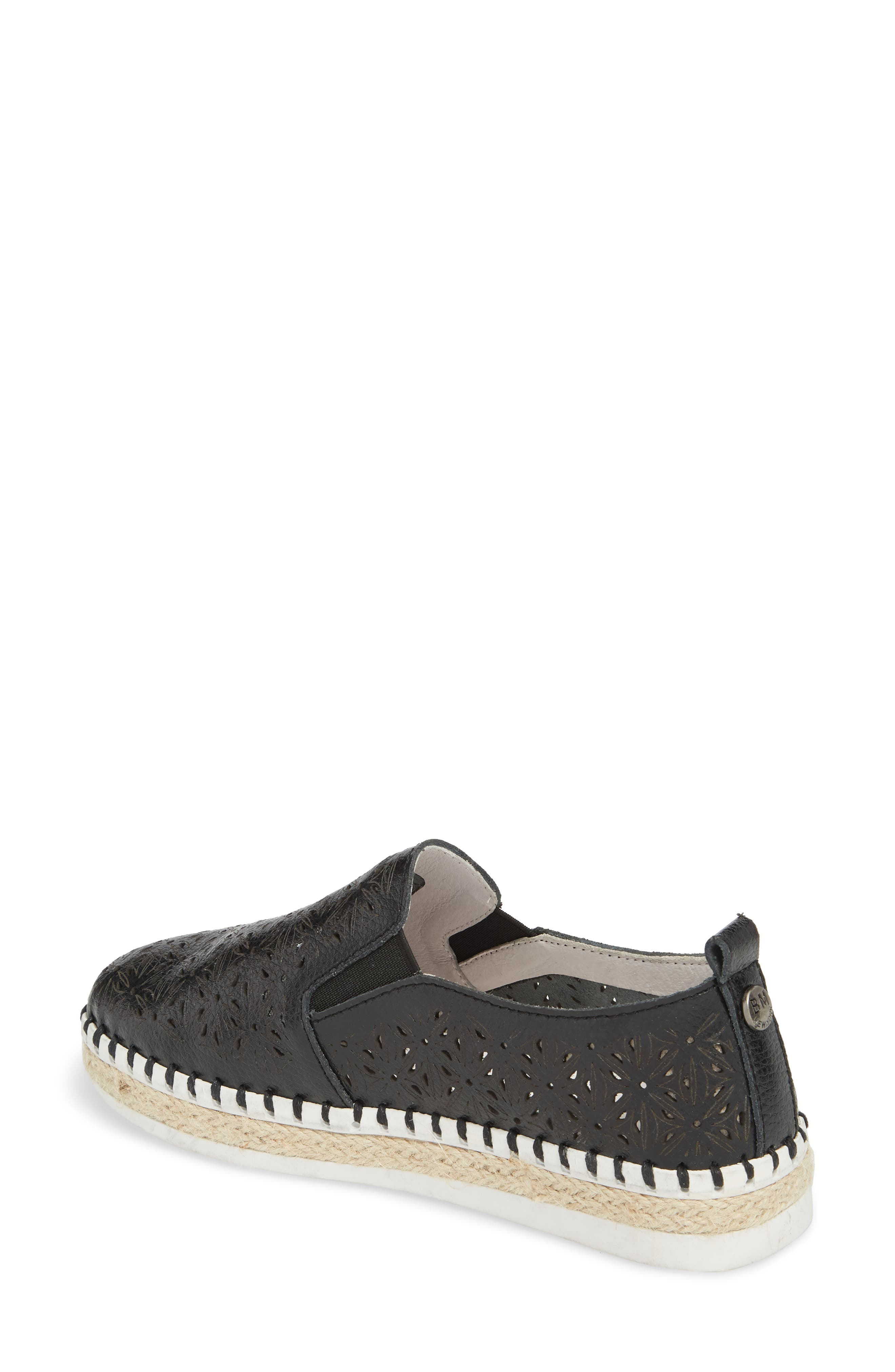 TW101 Espadrille Flat,                             Alternate thumbnail 2, color,                             BLACK LEATHER